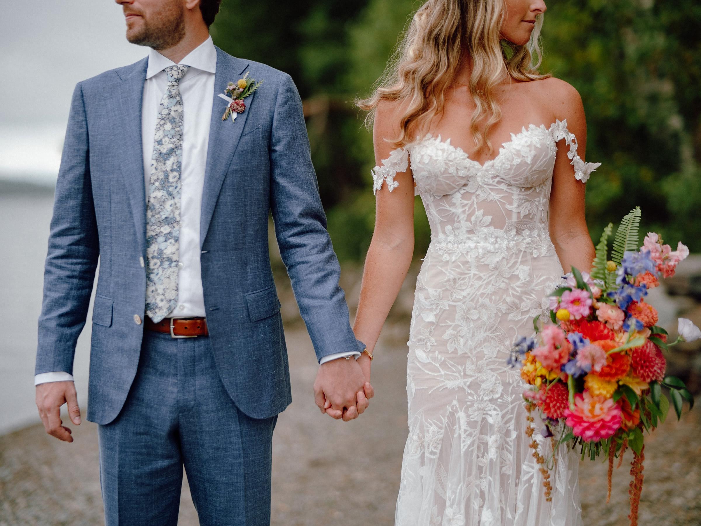 Beach-wedding-portrait-bride-in-oof-shoulder-gown