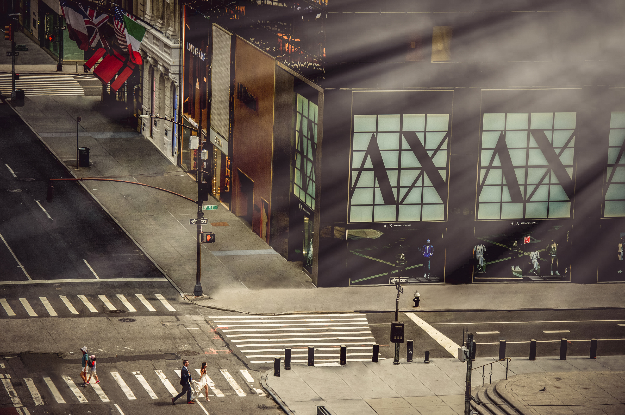 aerial-view-of-couple-at-armani-store-in-new-york-matthew-sowa-photography