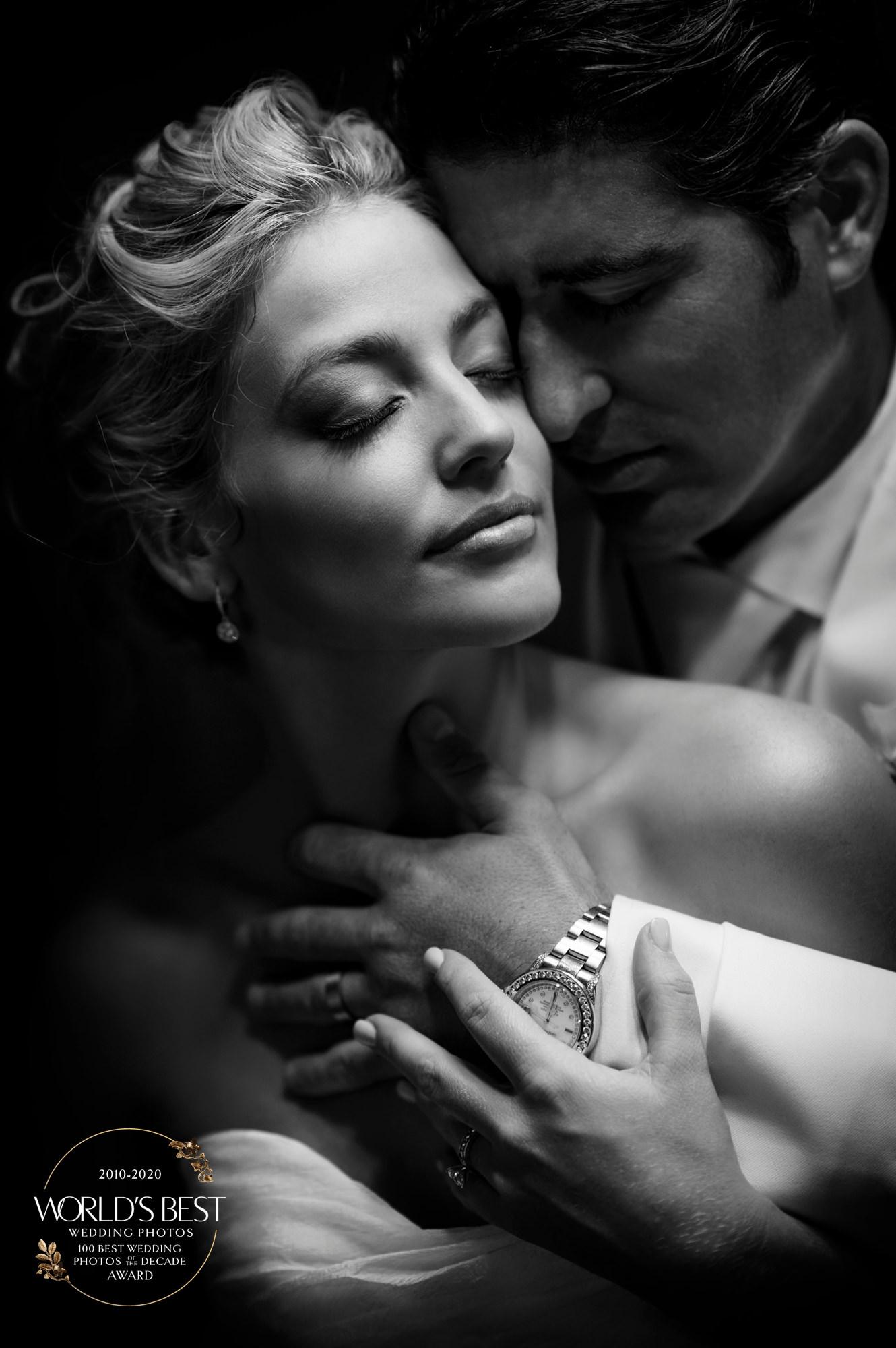 Award-winning, black and white portrait of couple by Ben Chrisman of Chrisman Studios - South Carolina