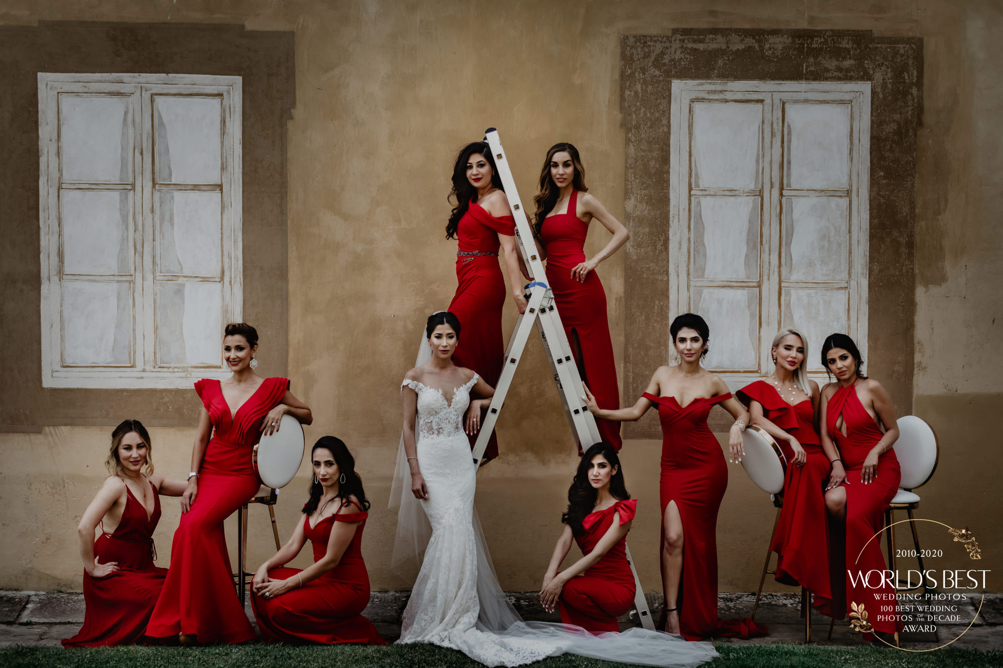 Award-winning fashion focused bridal part portrait by David Bastianoni - Italy