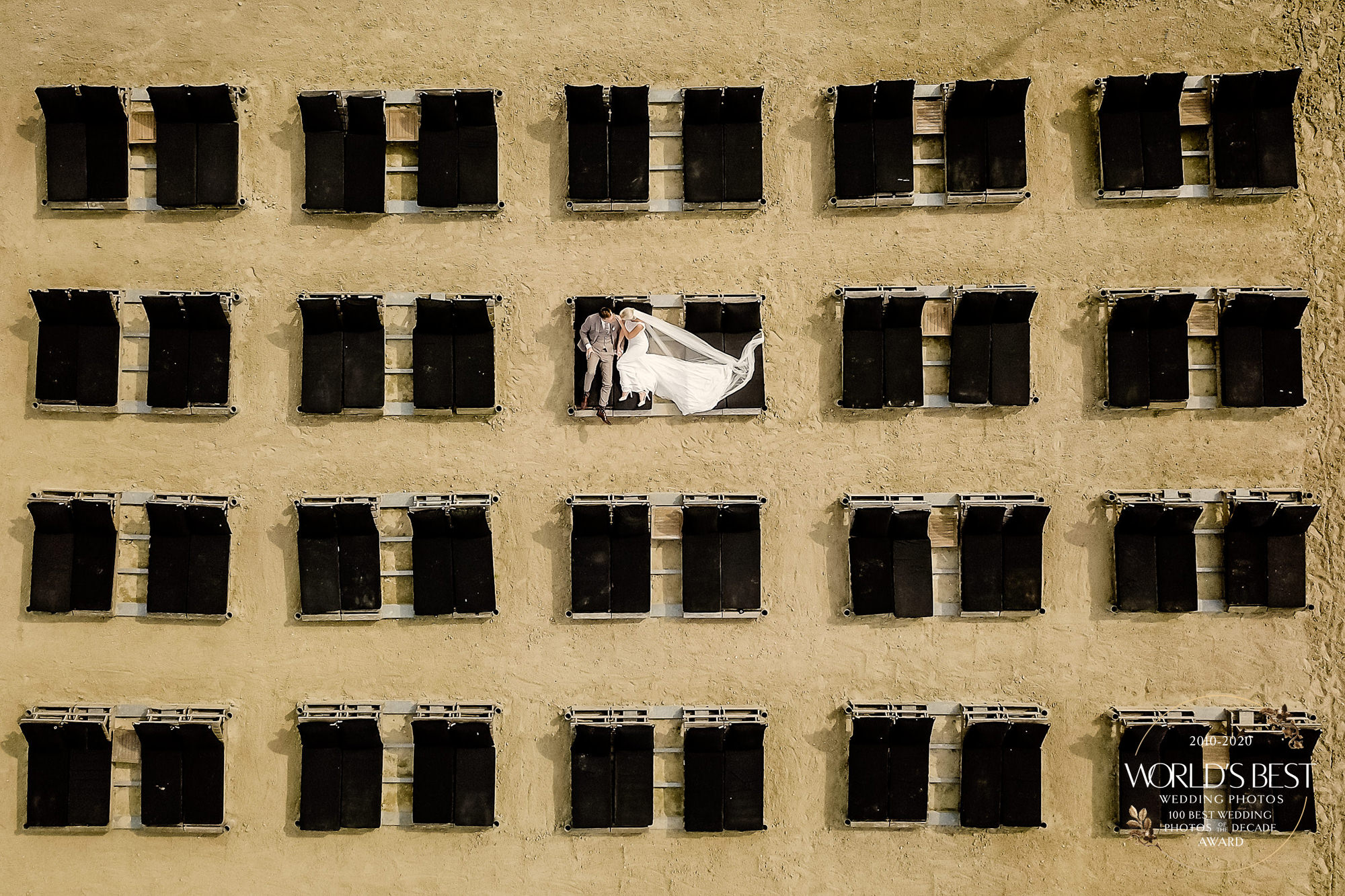 Award-winning, trick-of-the-eye drone photo by Eppel Photography - Netherlands