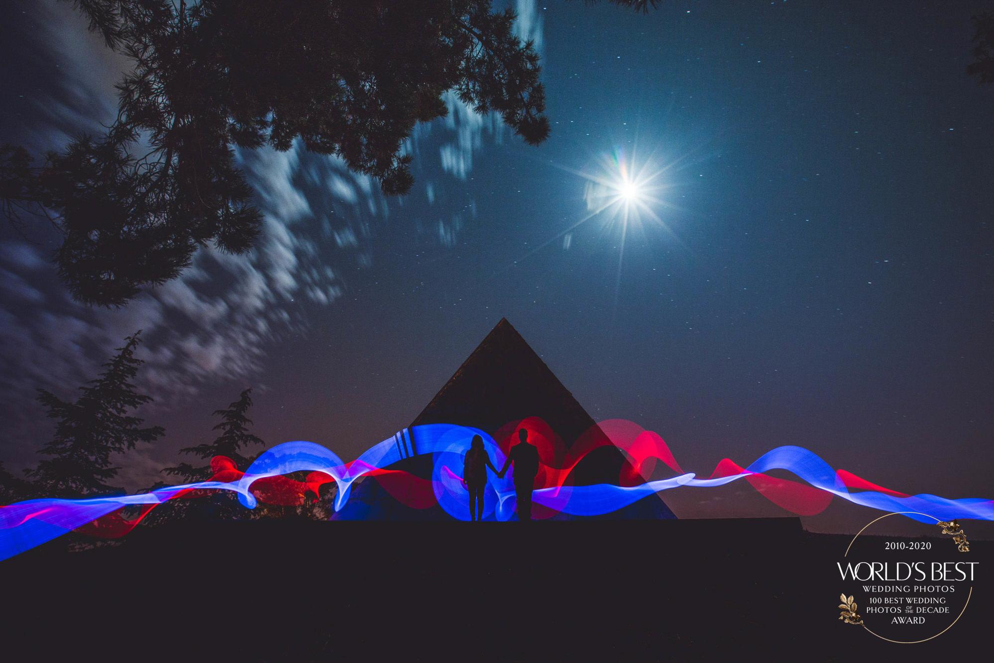 Award-winning long exposure taken with strobe lights by Jeff Newsom - Santa Barbara