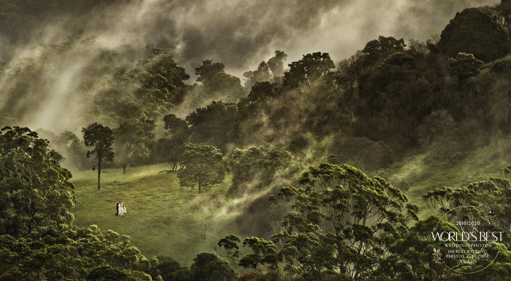 Award-winning photo of couple in vast landscape by Marcus Bell - Australia