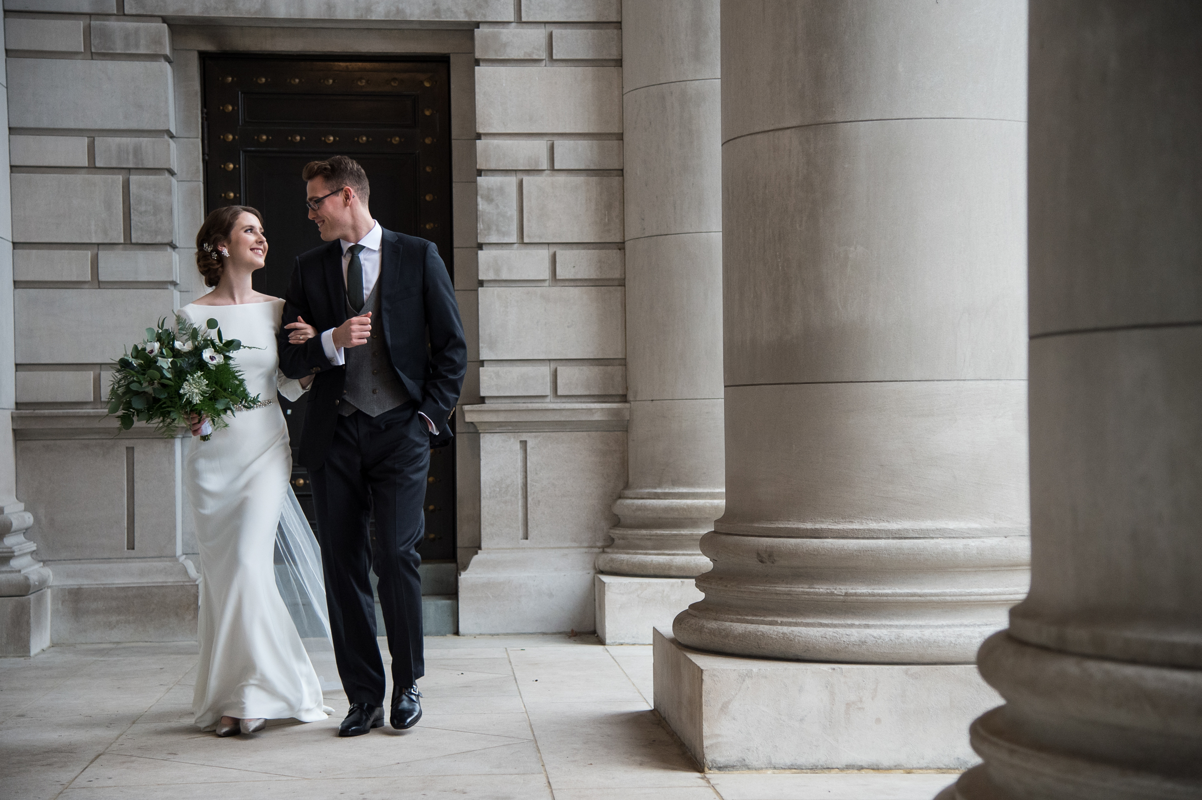 happy-couple-bride-wearing-silk-trumpet-gown-photography-by-steve-jane