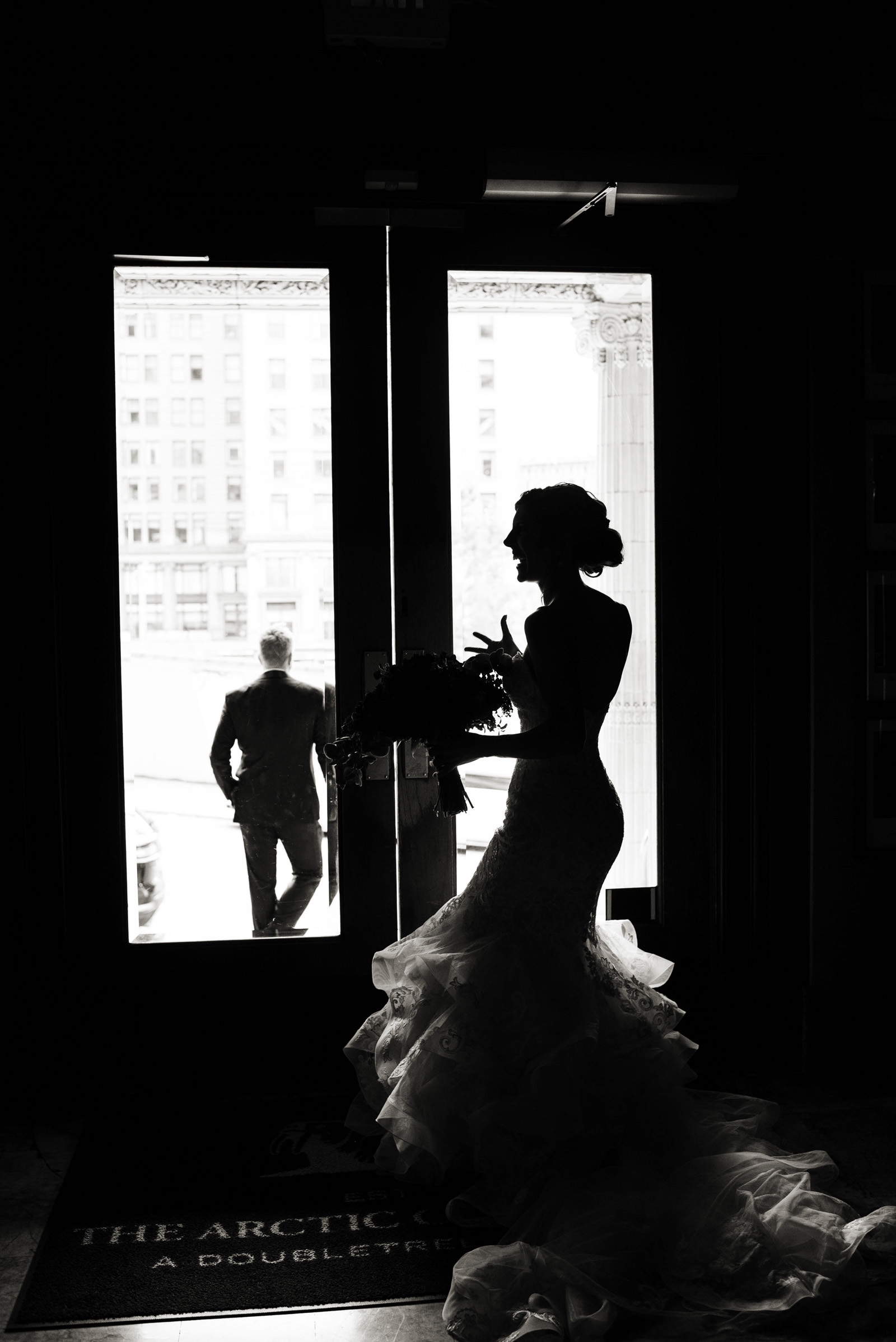 animated-silhouette-bride-in-ruffled-gown-barbie-hull-photography
