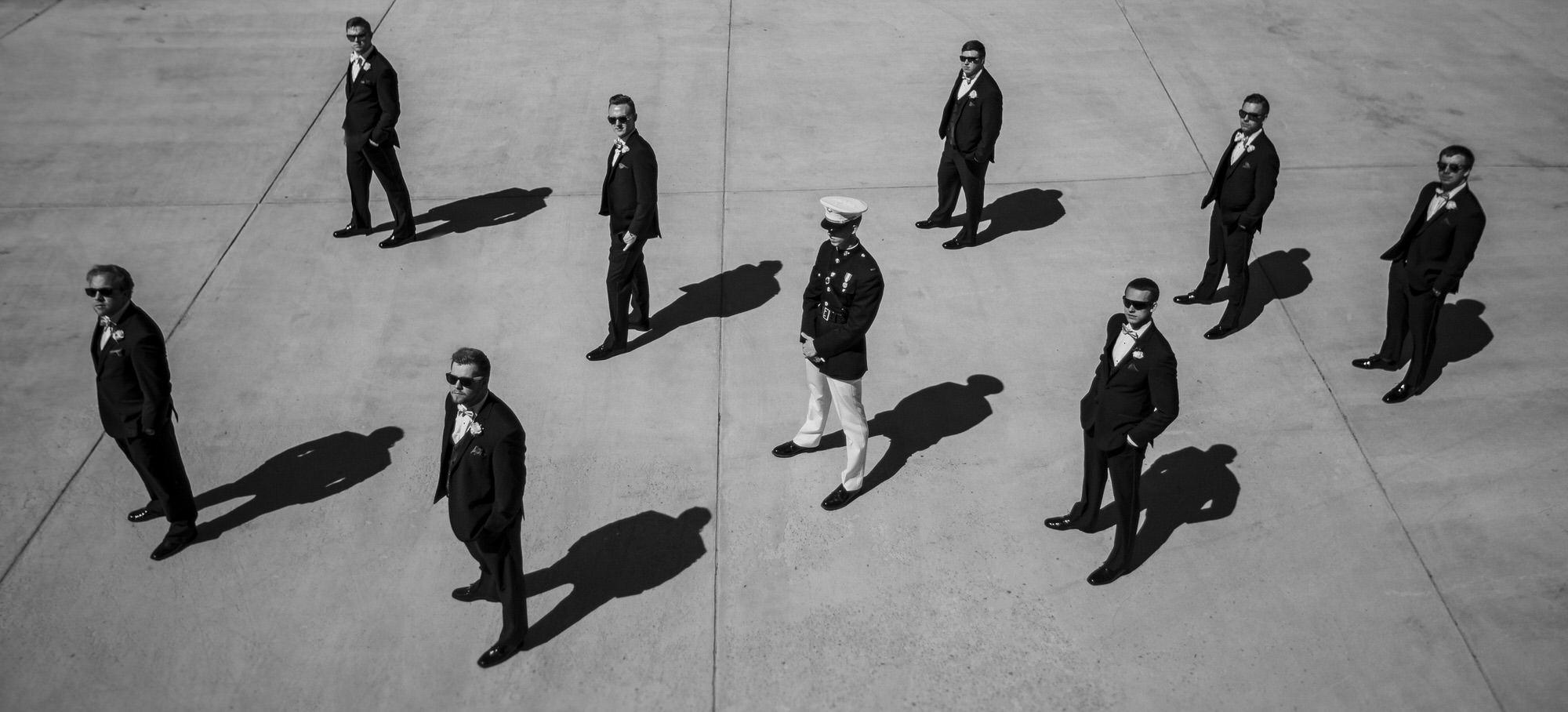black-and-white-groomal-party-photo-by-ken-pak-washington-dc-photographer
