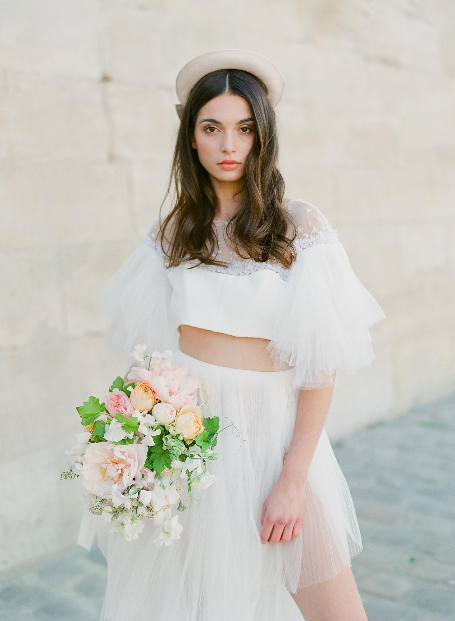 fashion-two-piece-chiffon-dress-high-waist-short-skirt-worlds-best-wedding-photos-greg-finck-france-wedding-photographers