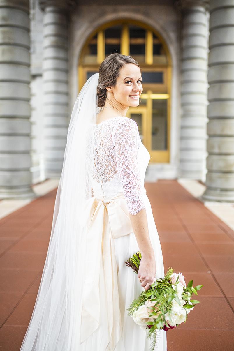 Beautiful bridal portrait by Anna Schmidt - DC