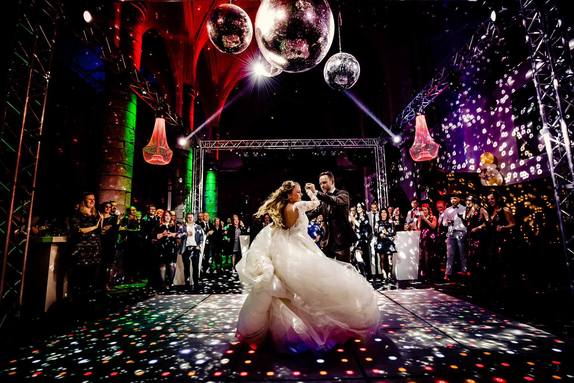 Festive first dance photo by Eppel Photography