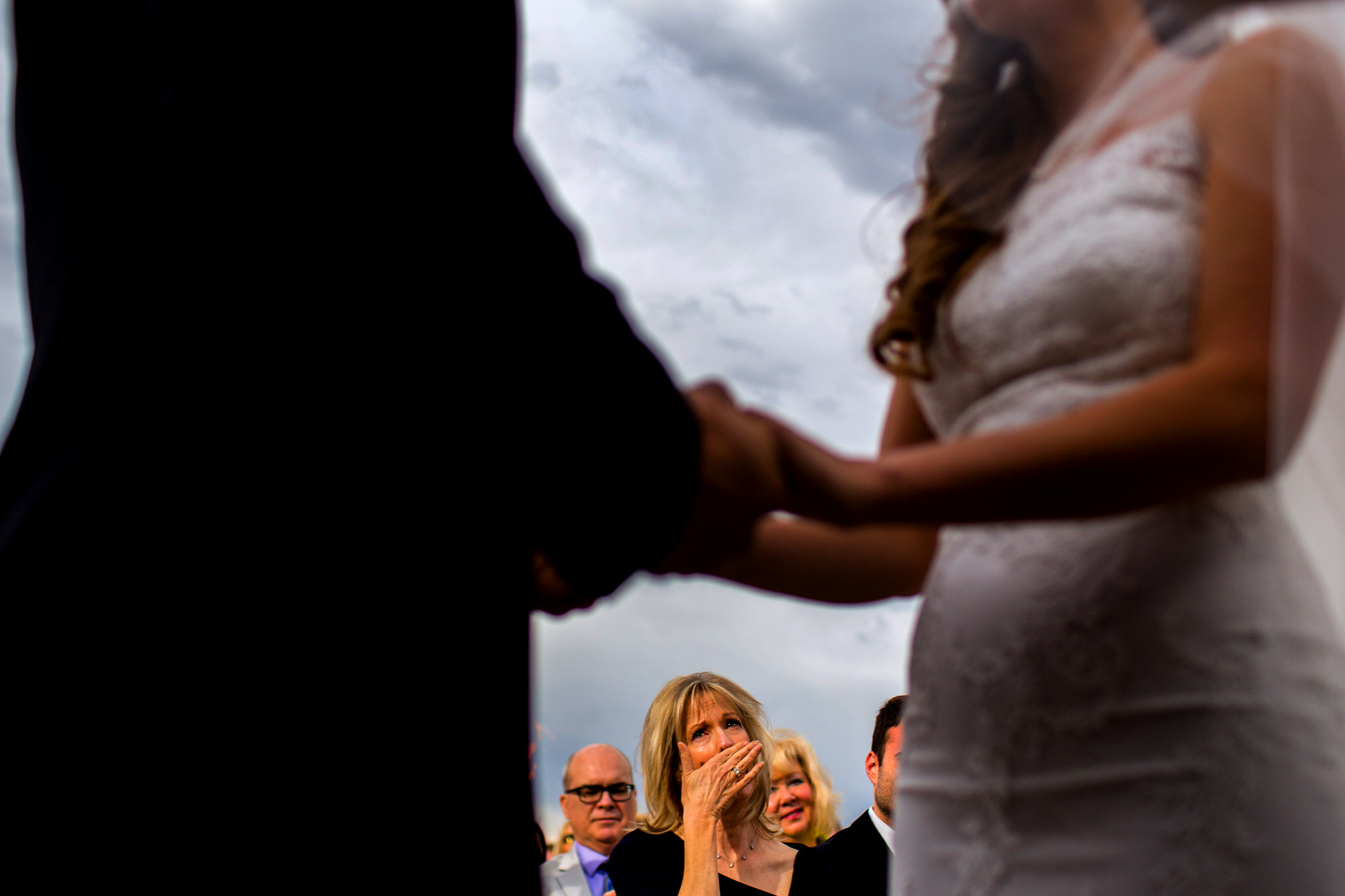 Mom chokes up during daughter's wedding vows - photo by Tyler Wirken
