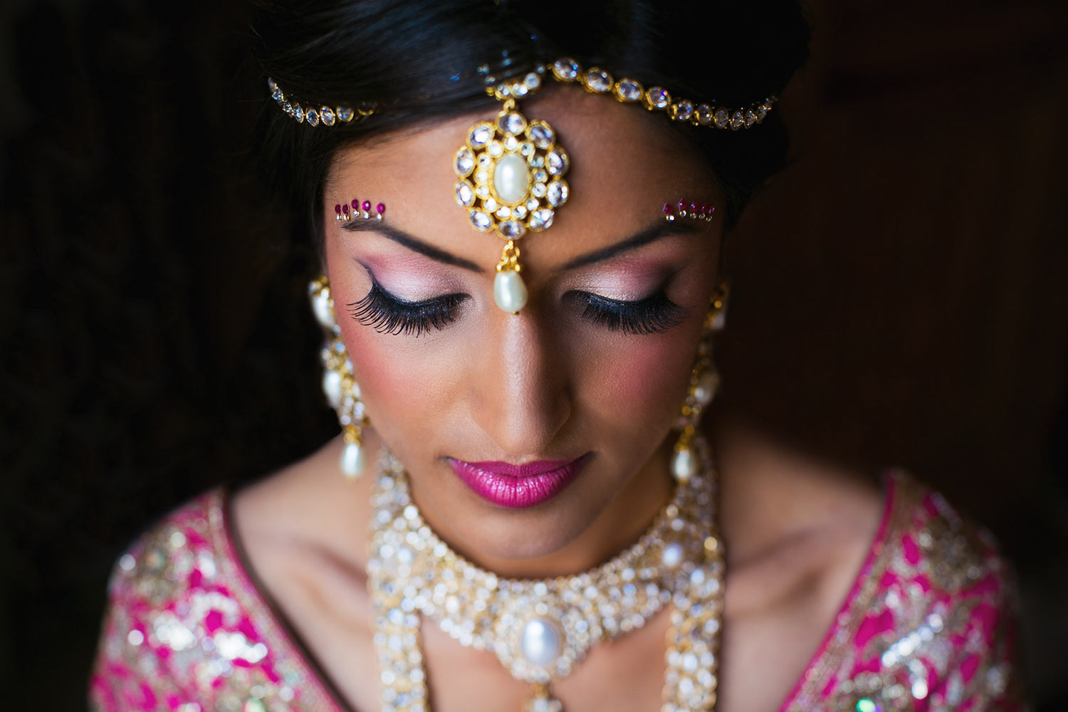 indian-bride-with-pink-silver-make-up-jewelry-worlds-best-wedding-photos-callaway-gable-los-angeles-wedding-photographers