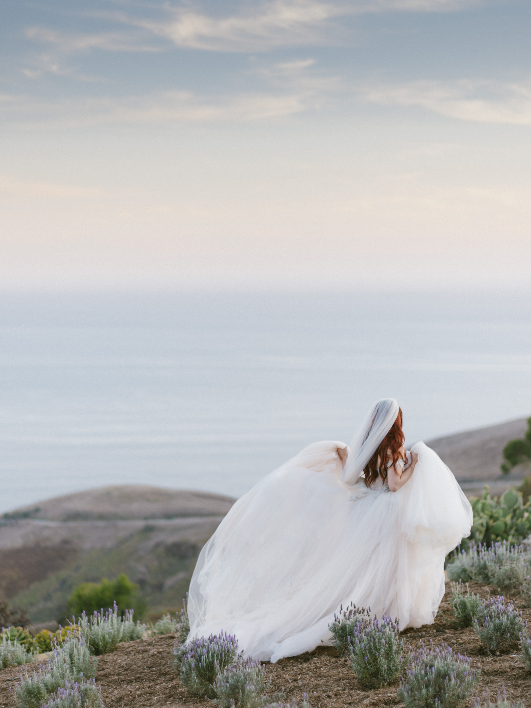 back-view-of-outdoor-bride-in-voluminous-chiffon-gown-amy-and-stuart-photography