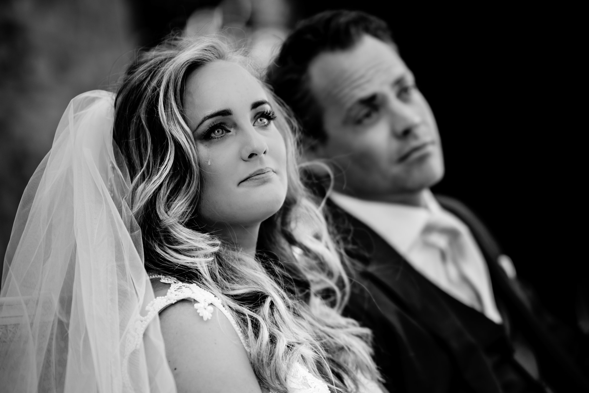 Bride cries during toast - photo by Eppel Photography
