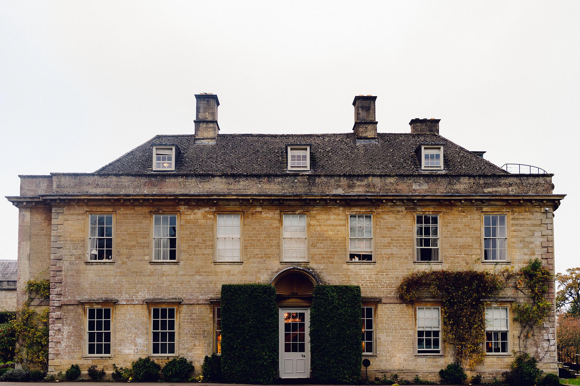 Babington House front entrance - Somerset, England - photo by Ash Davenport of Miki Studios