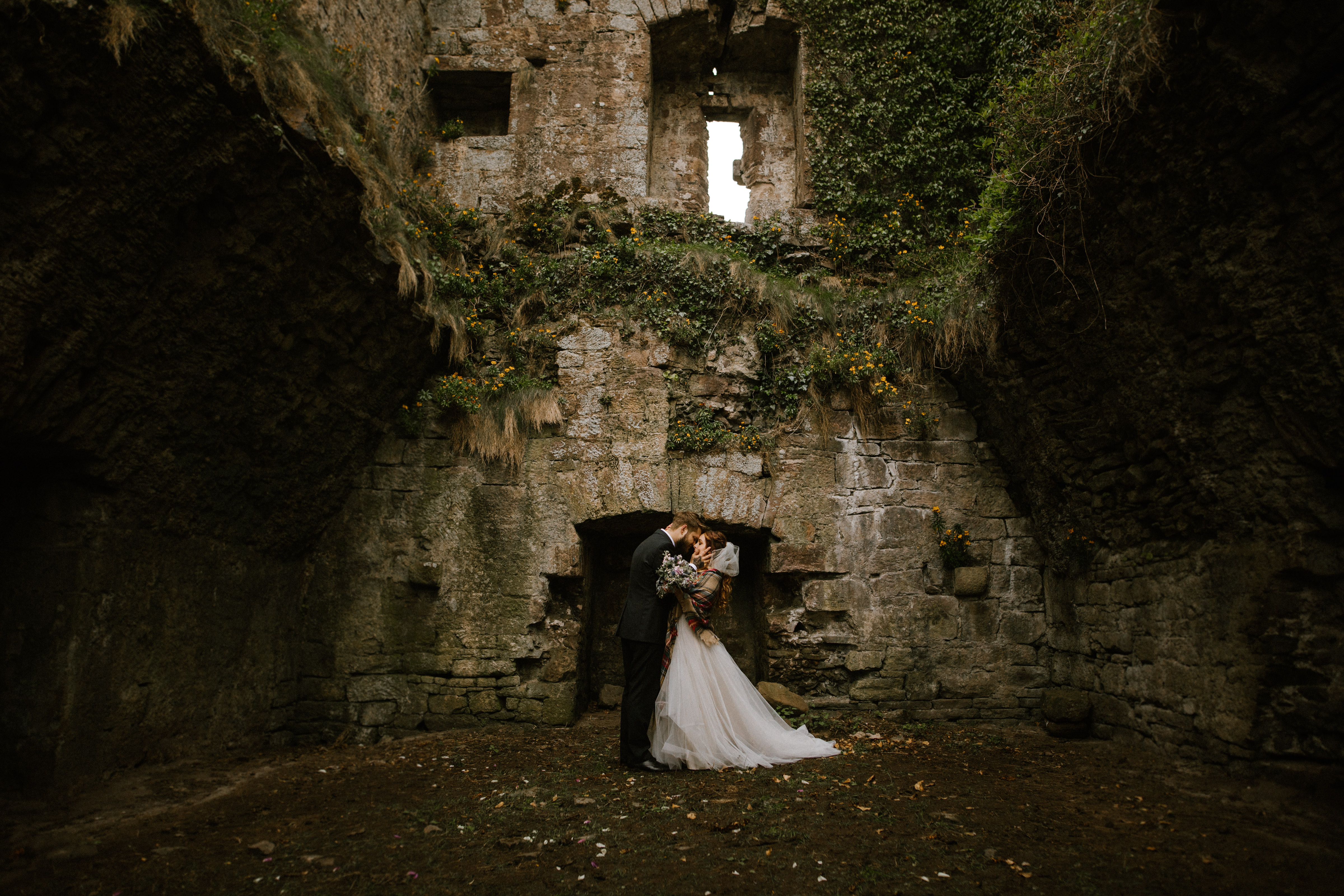 Private castle elopement in Dingle, Ireland - photo by White Cat Studios