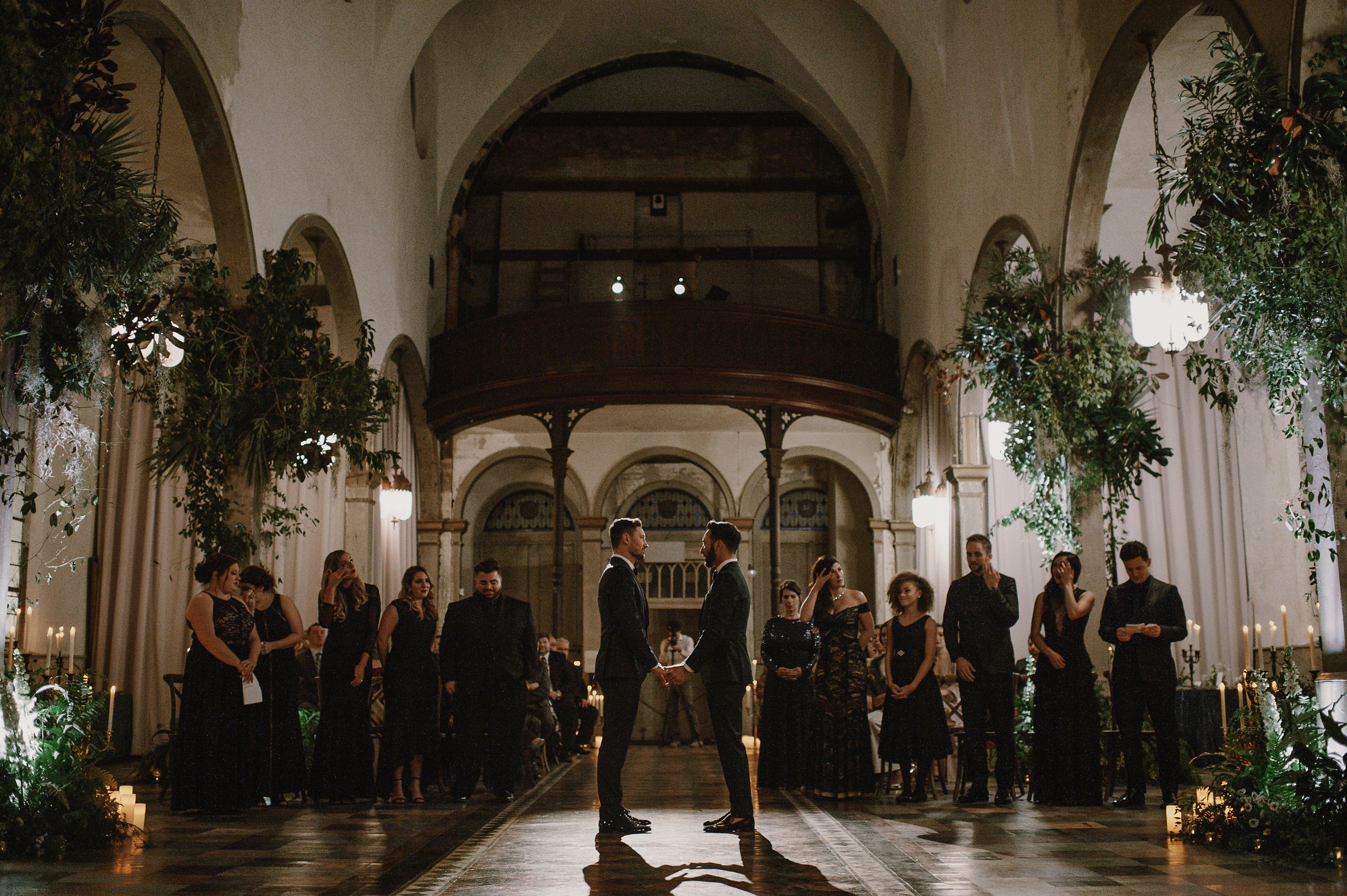 "Groomssay ""I Do"" during church ceremony - Kristen Marie Parker"