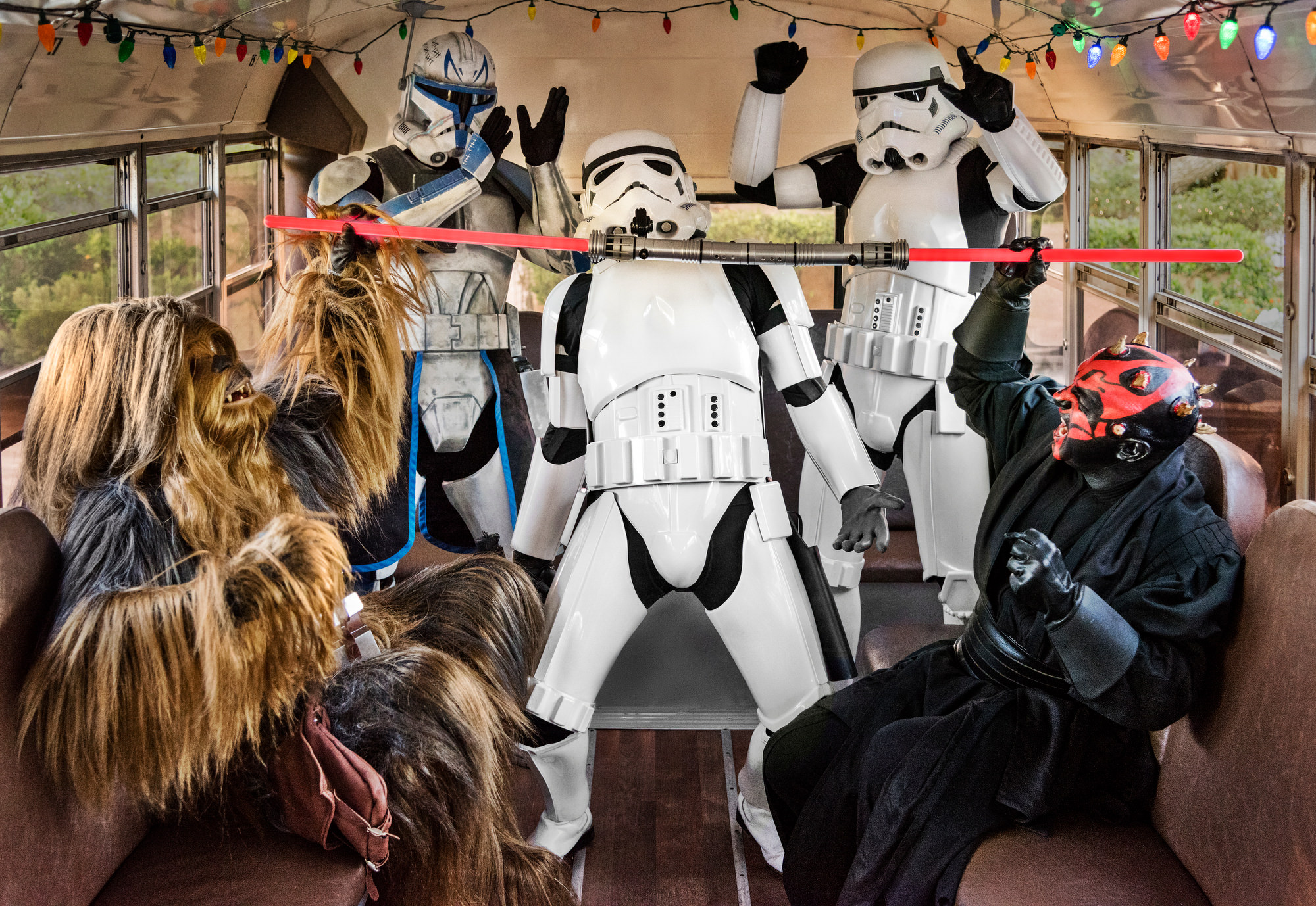 Storm Trooper does the limbo at Star Wars wedding - photo by Jerry Ghionis