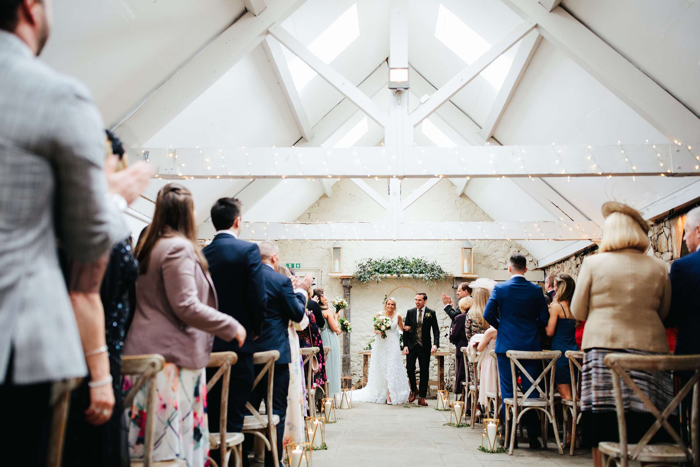 Ceremony barn at Wyresdale Park, Lancashire, England - photo by The Crawleys