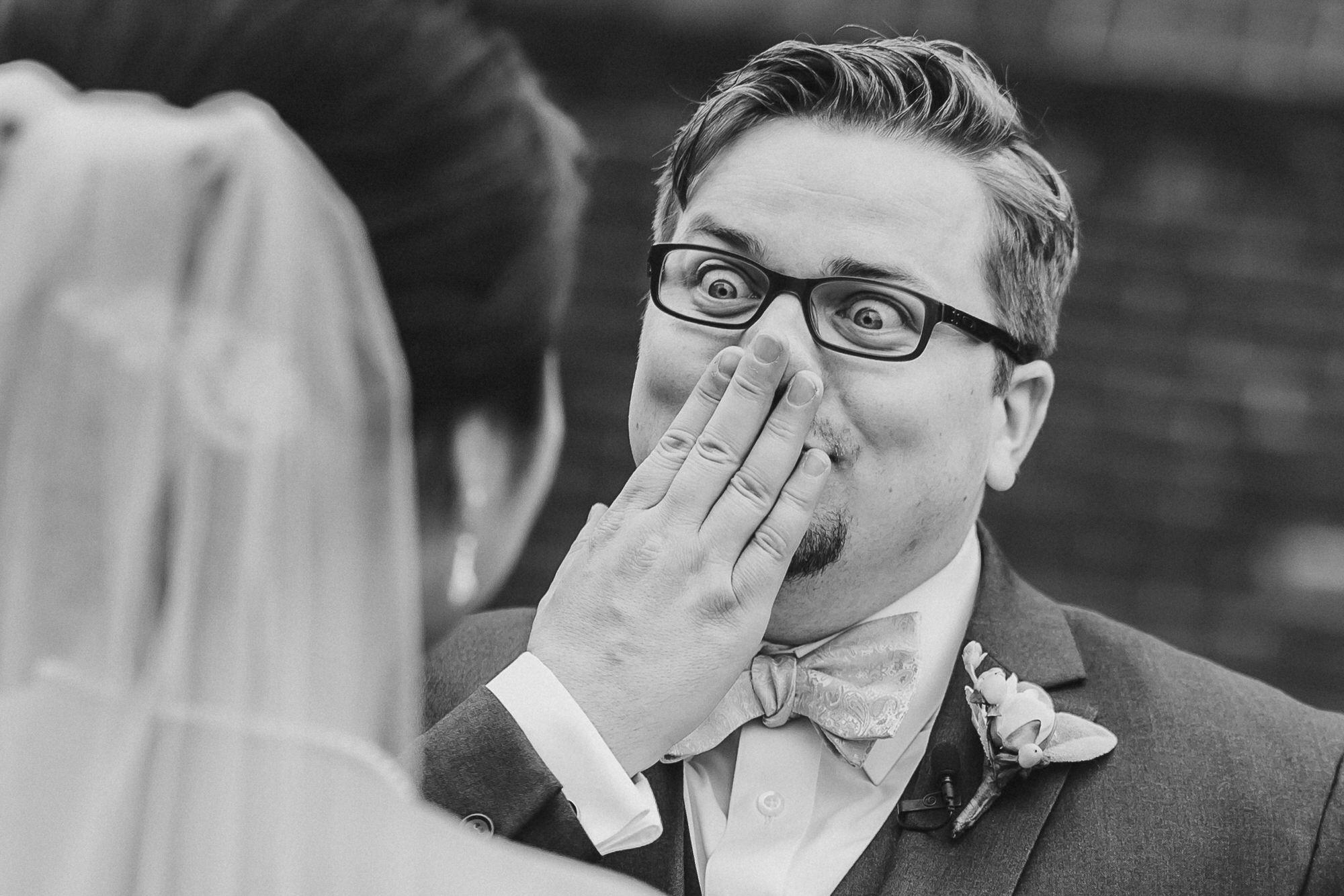 black-and-white-groom-surprised-by-ken-pak-washington-dc-photographer