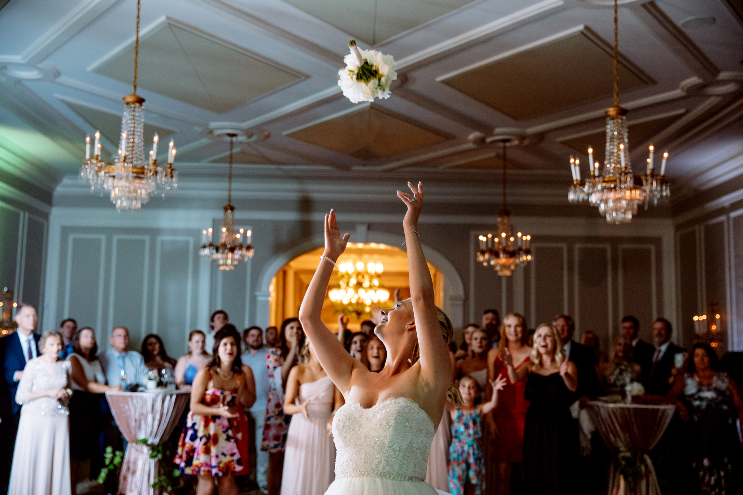 Bouquet Toss photo by Jessica Hill Photography - Portland, Oregon