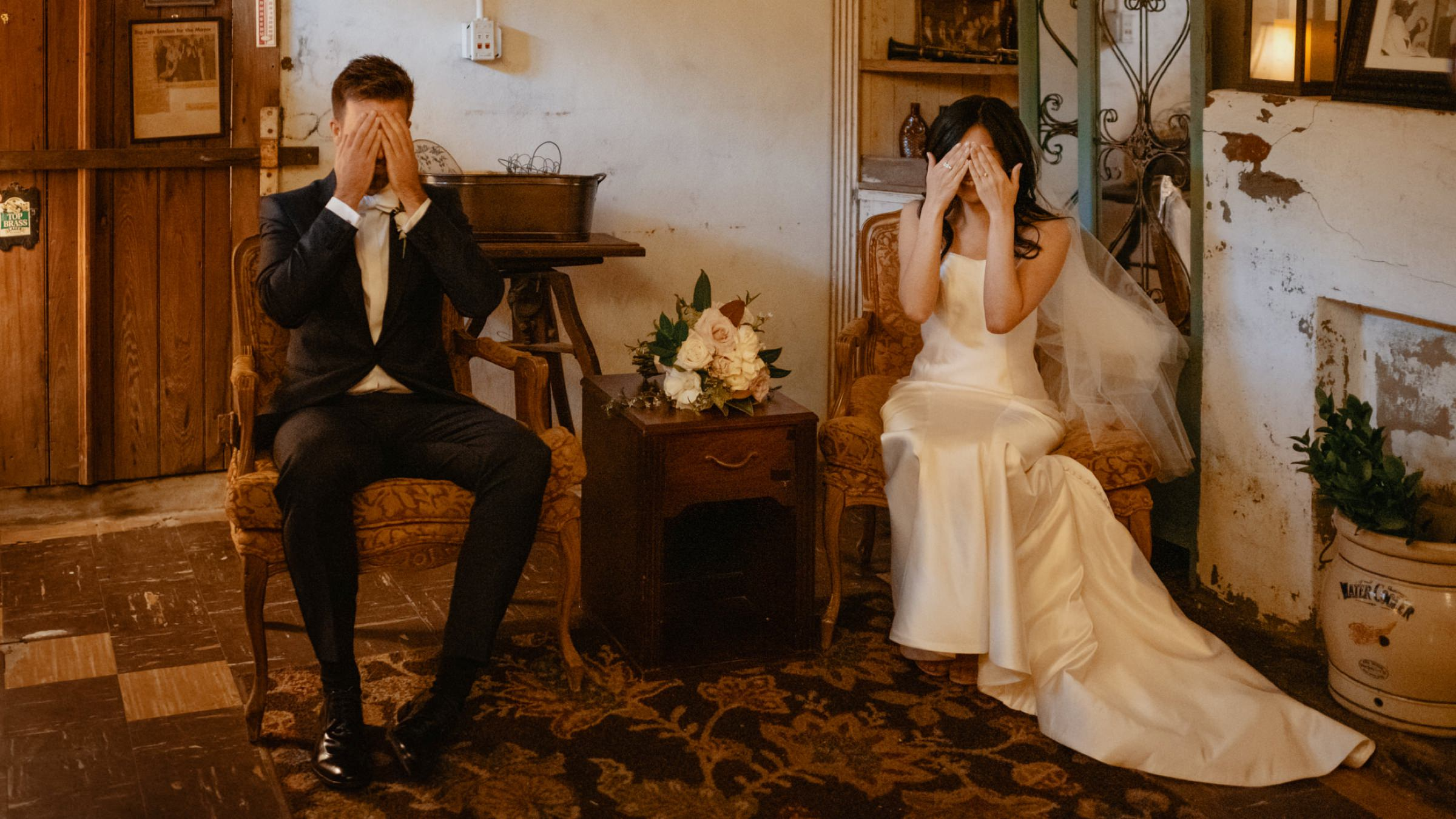 bride-and-groom-during-first-look-covering-their-eyes-new-orleans-austin-houston-photo-by-dark-roux