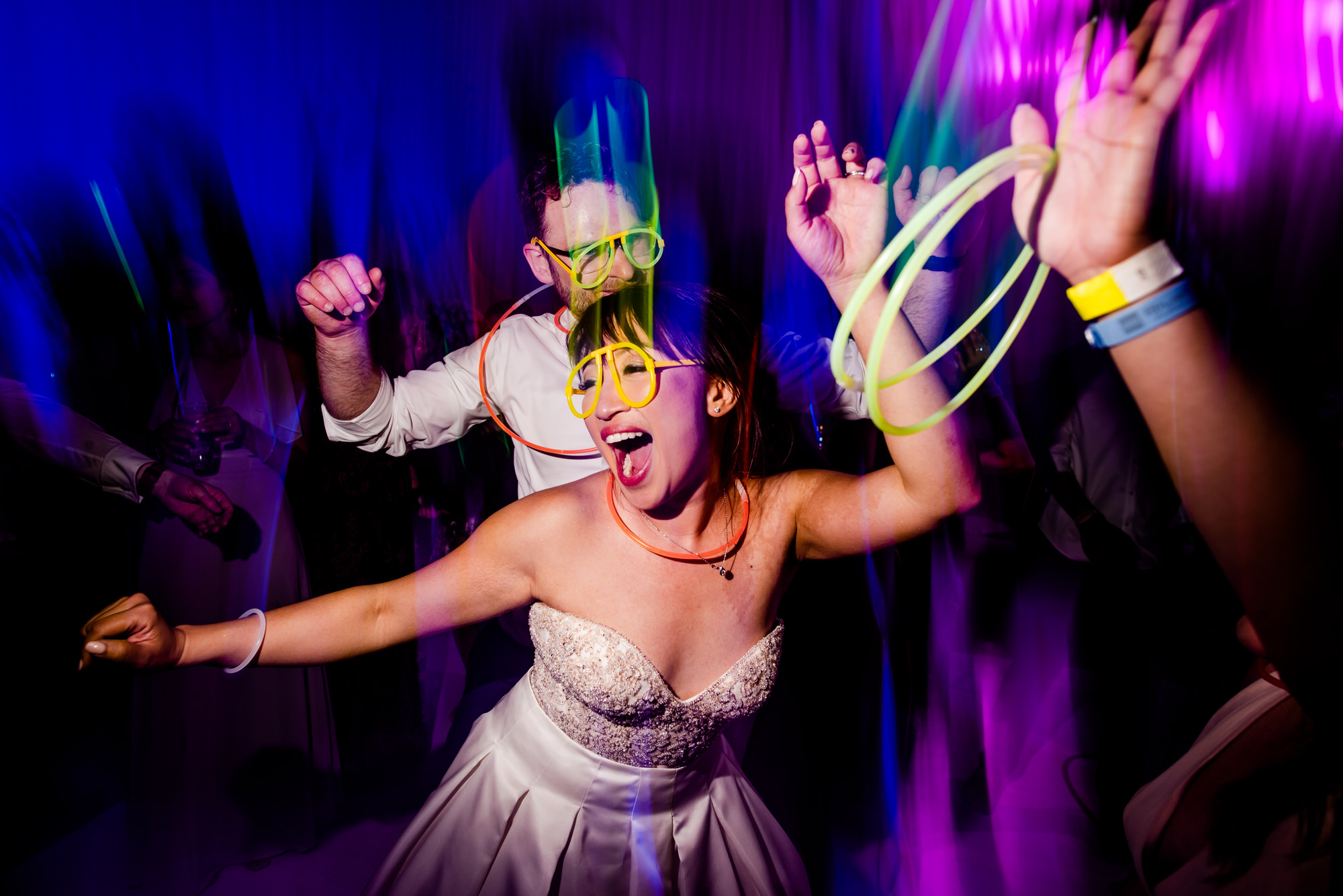 Couple let loose on the dance floor - photo by Ken Pak