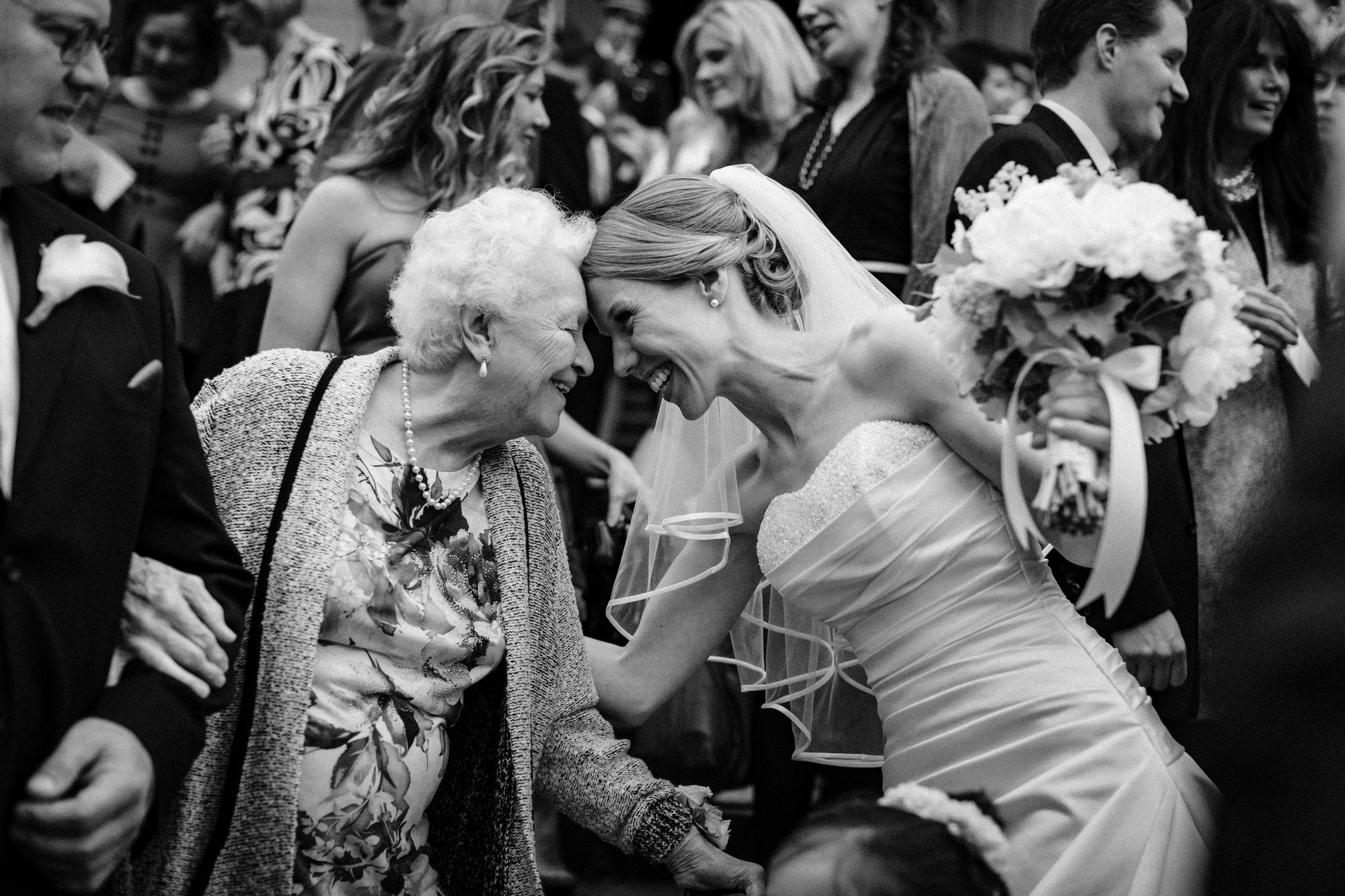 Sweet moment between bride and her grandmother - photo by John and Joseph Photography - Los Angeles