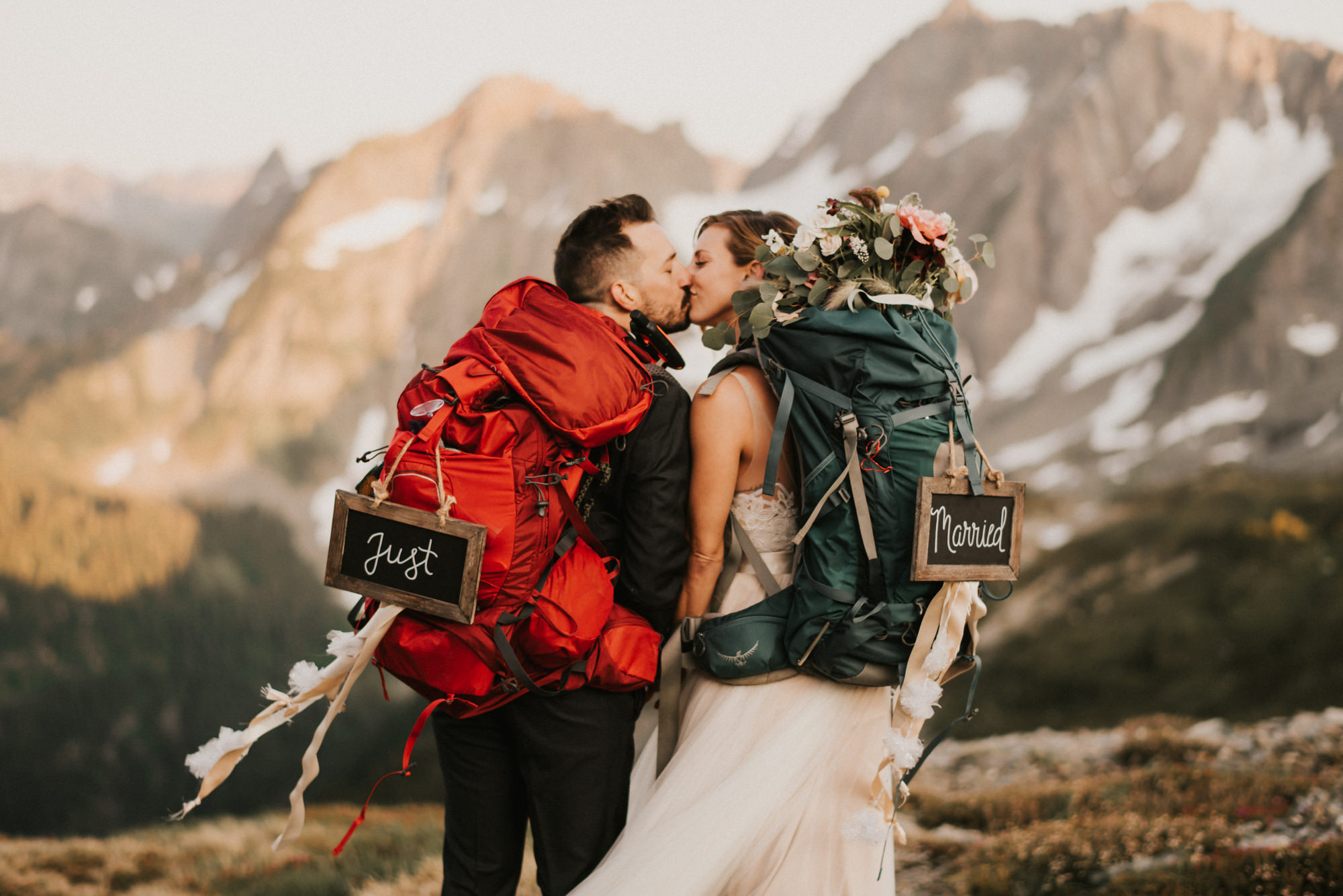 Backpacking elopement in the North Cascades - photo by Gabe McClintock