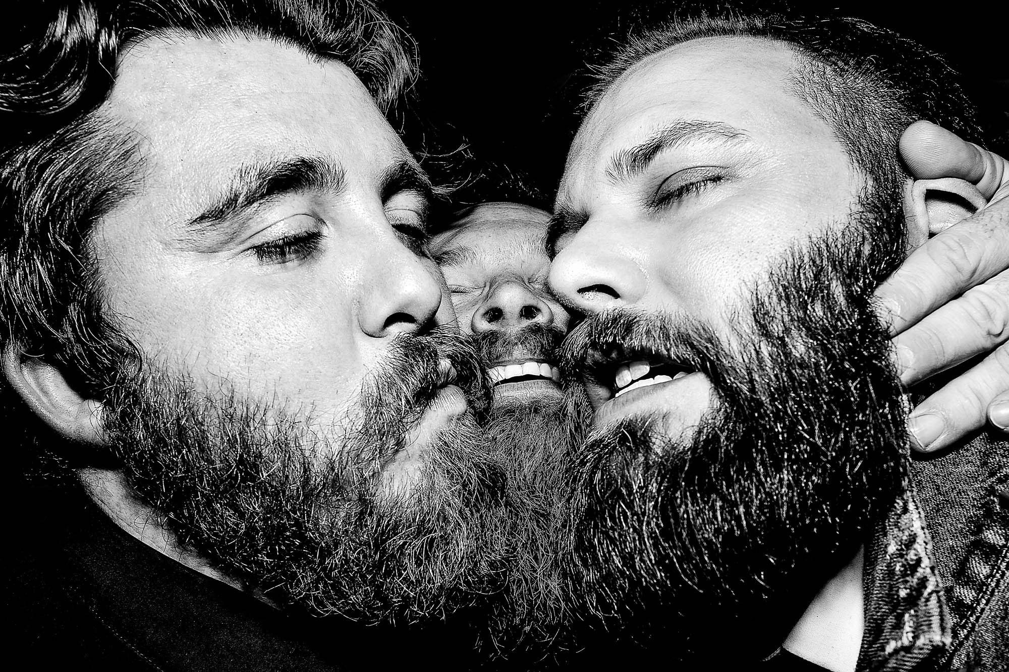 A guys with beards bromance - photo by JOS Studios
