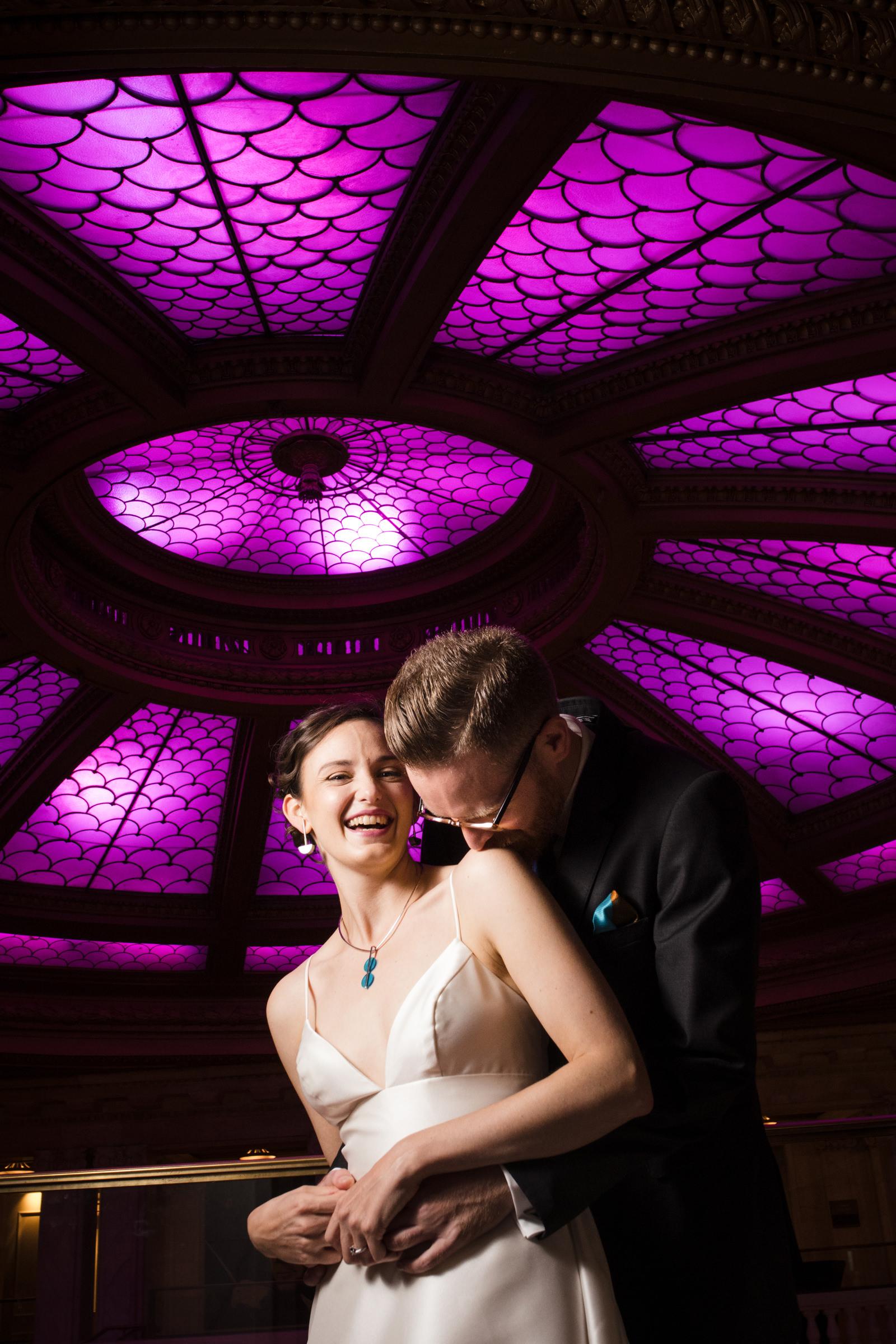 happy-portrait-of-bride-and-groom-on-the-dance-floor-by-joe-appel-photography-pennsylvania