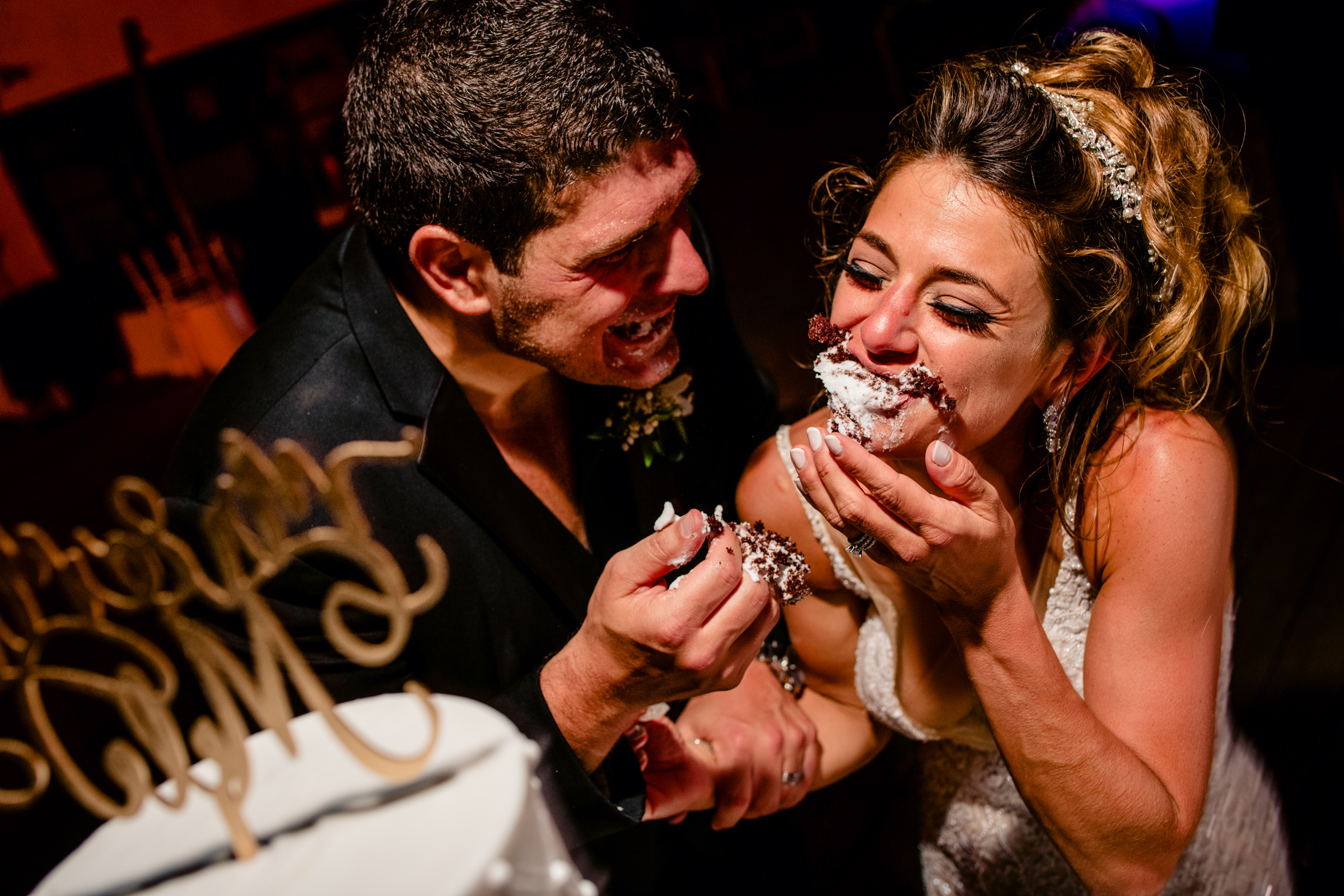 Smashing the cake big time - photo by Freas Photography - North Carolina