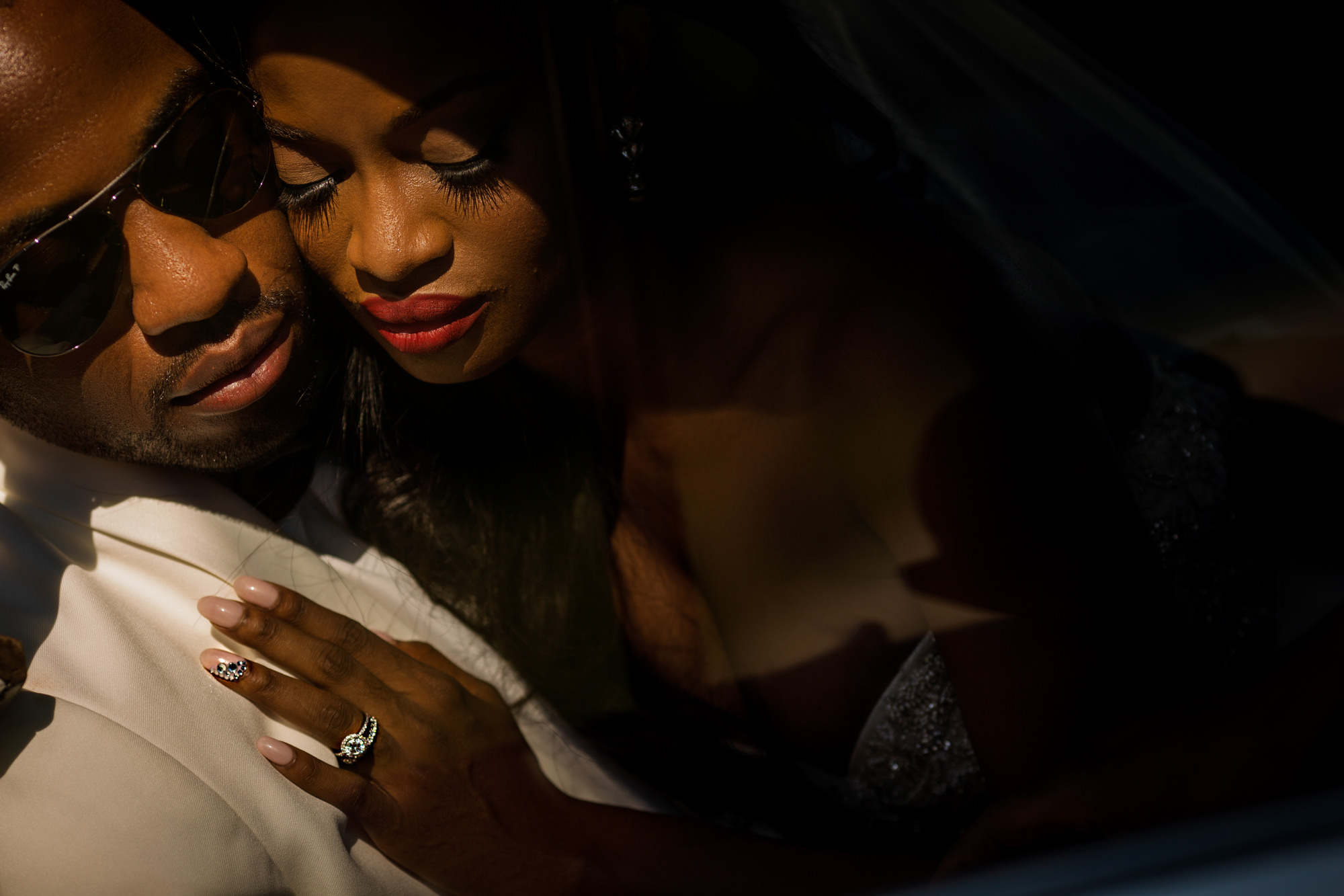 portrait-black-couple-red-lips-long-lashes-diamond-nails-worlds-best-wedding-photos-jide-alakija-new-york-wedding-photographers