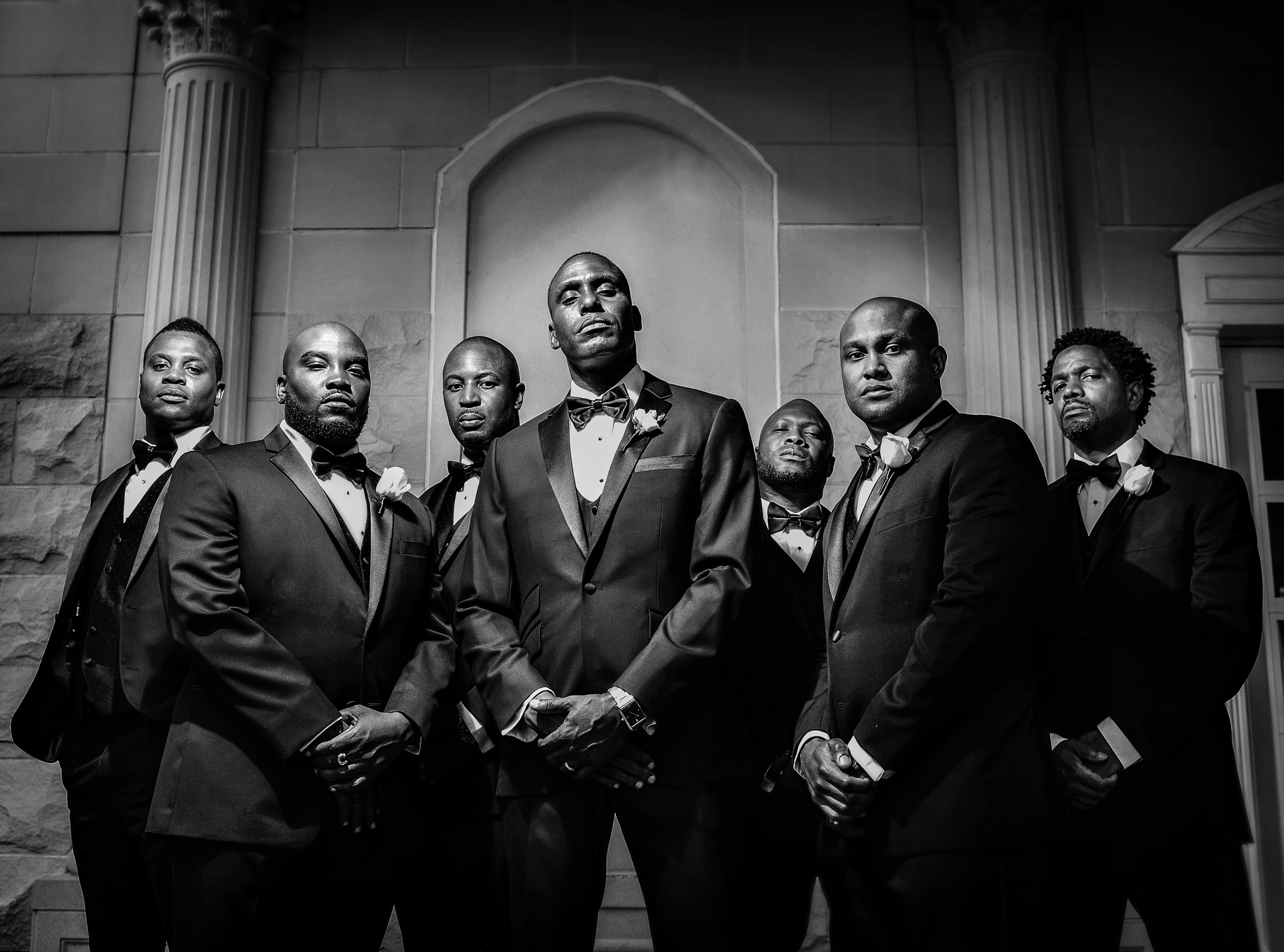 serious-expressions-on-groom-and-groomsmen-jeff-tisman-photography