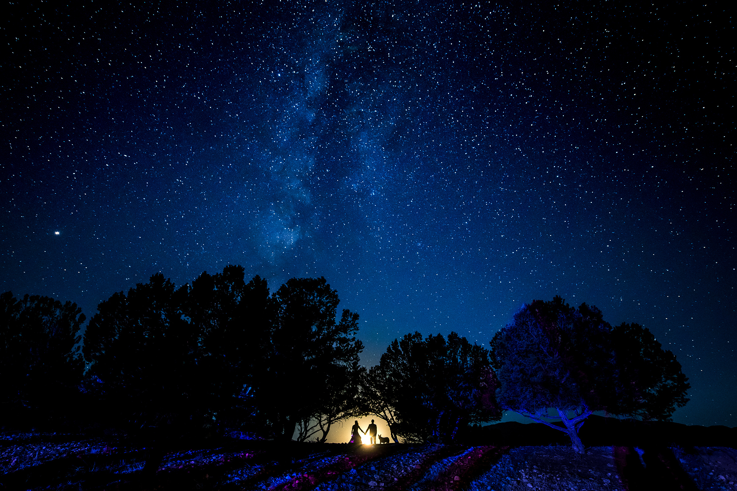 silhouette-of-bride-and-groom-against-night-sky-photo-by-j-la-plante-photo
