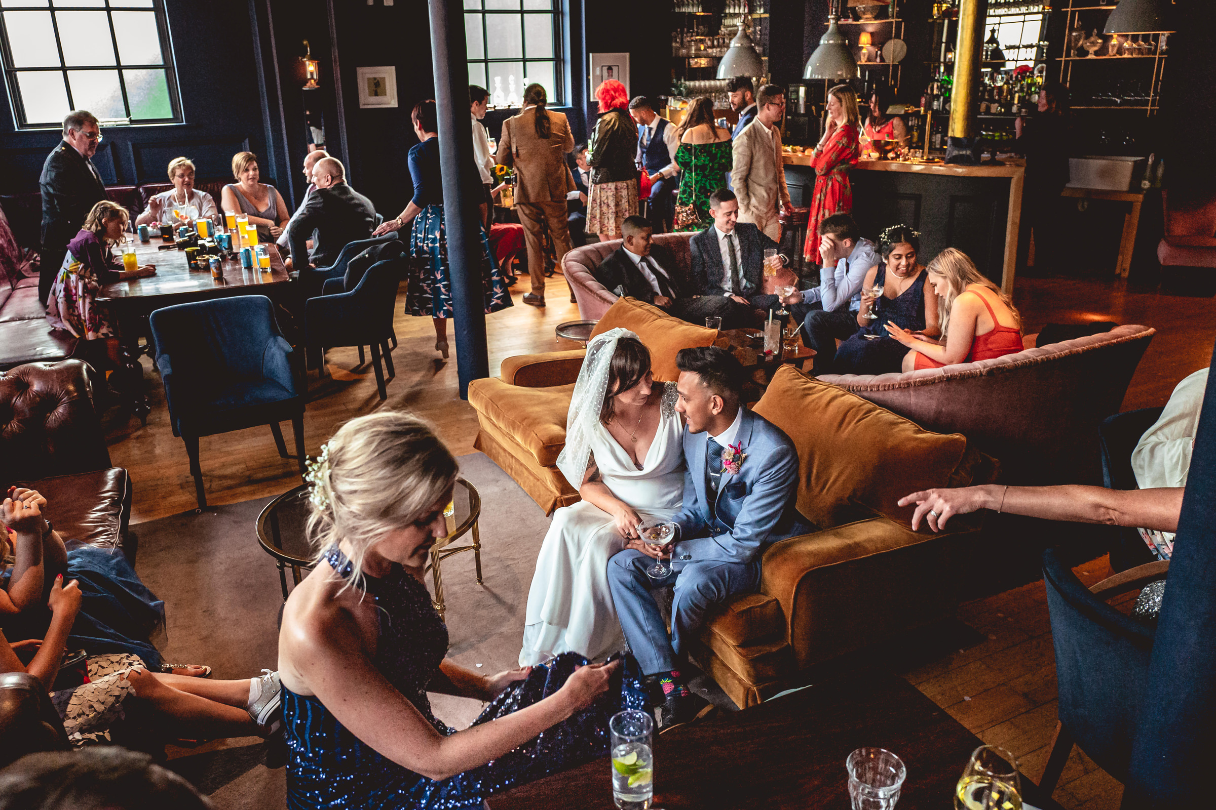 Story telling photo by UK wedding photographer Andrew Billington