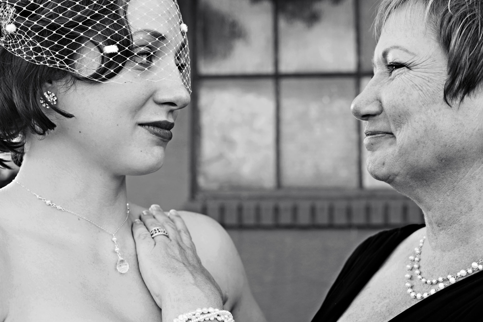 Touching portrait of mom with bride by Photo JJ - Seattle