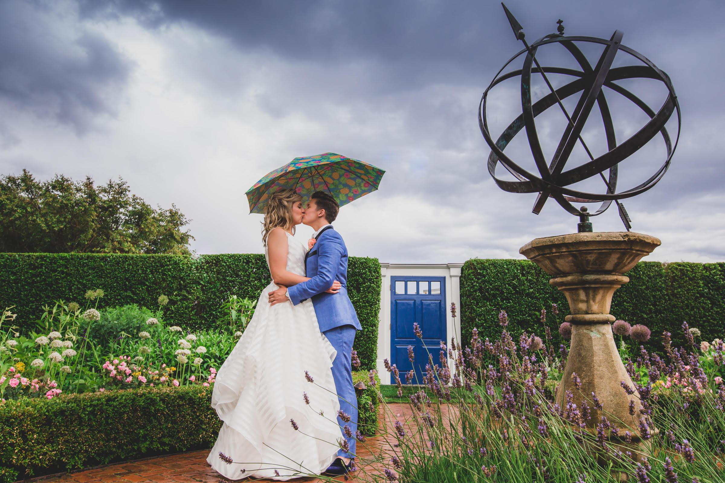 two-brides-under-an-umbrella-rainy-day-wedding.
