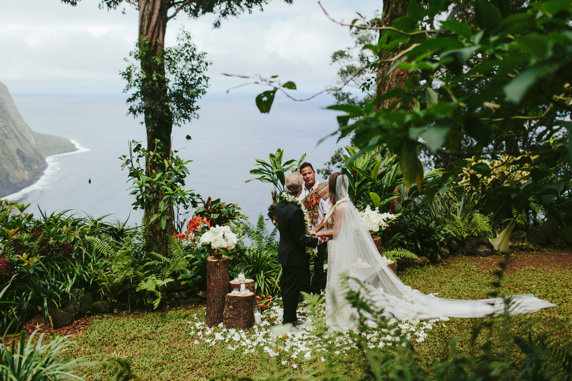 Maui elopement on cliffside photographed by Melia Lucida Photography