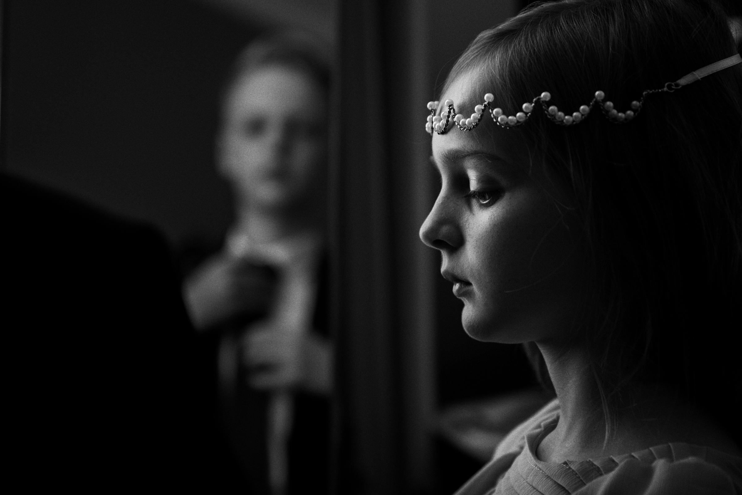 Flower girl and ring bearer prepare for wedding ceremony - photo by Jeff Ascough, London
