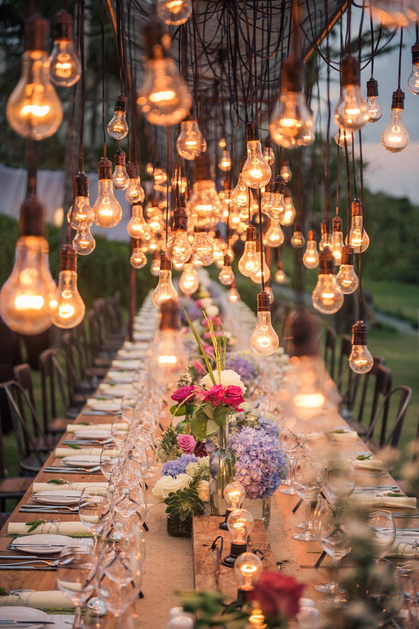 Antique lightbulb chandeliers  - Studio Impressions Photography
