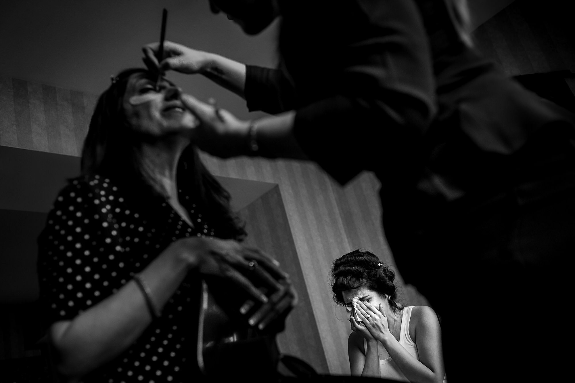 Bride tears up while getting ready - Davina + Daniel