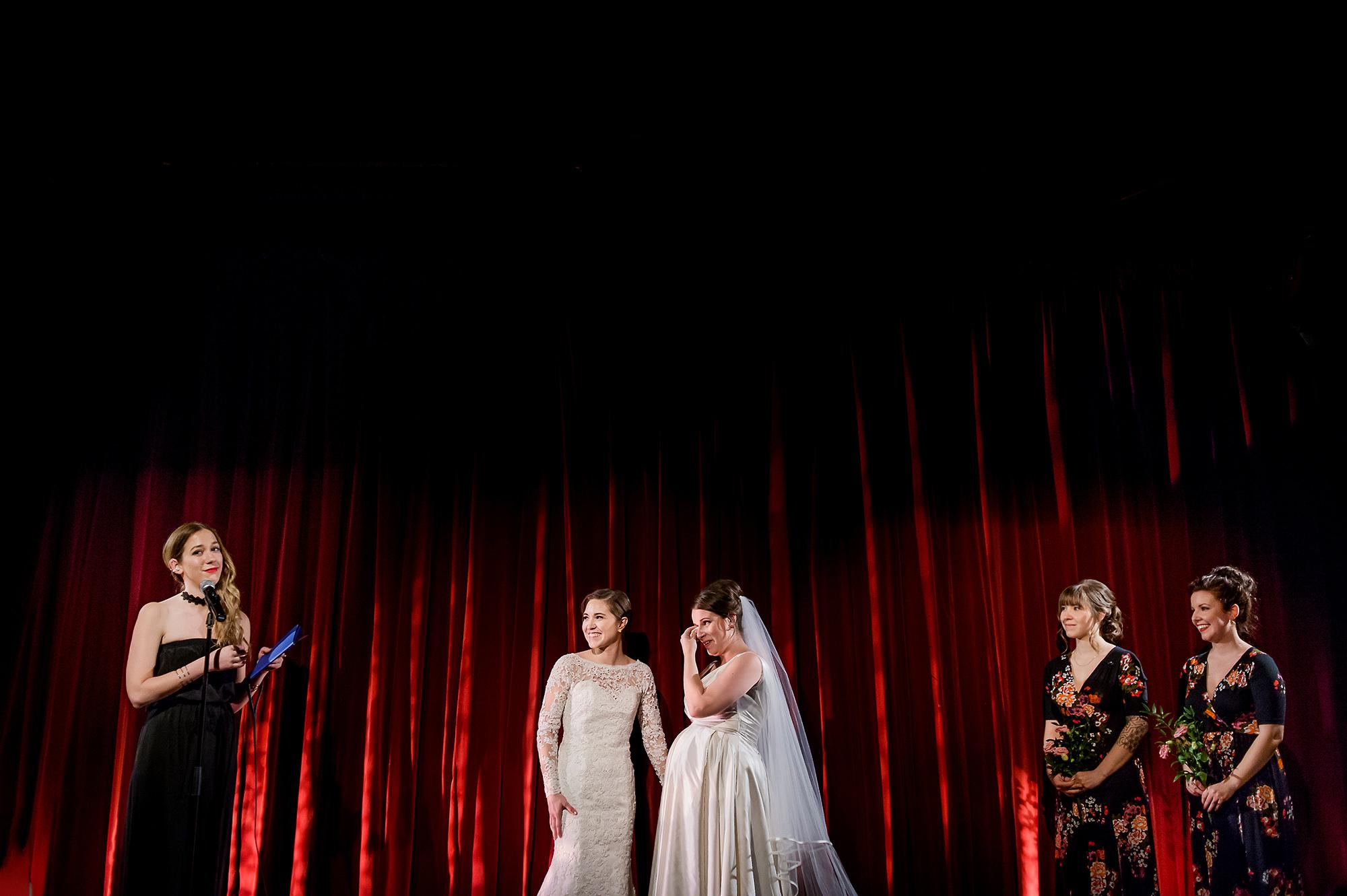 Pregnant bride cries during toast - Davina + Daniel