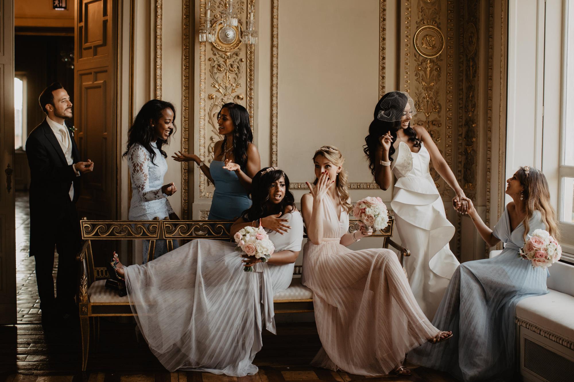 Candid bridal party photo by David Bastianoni