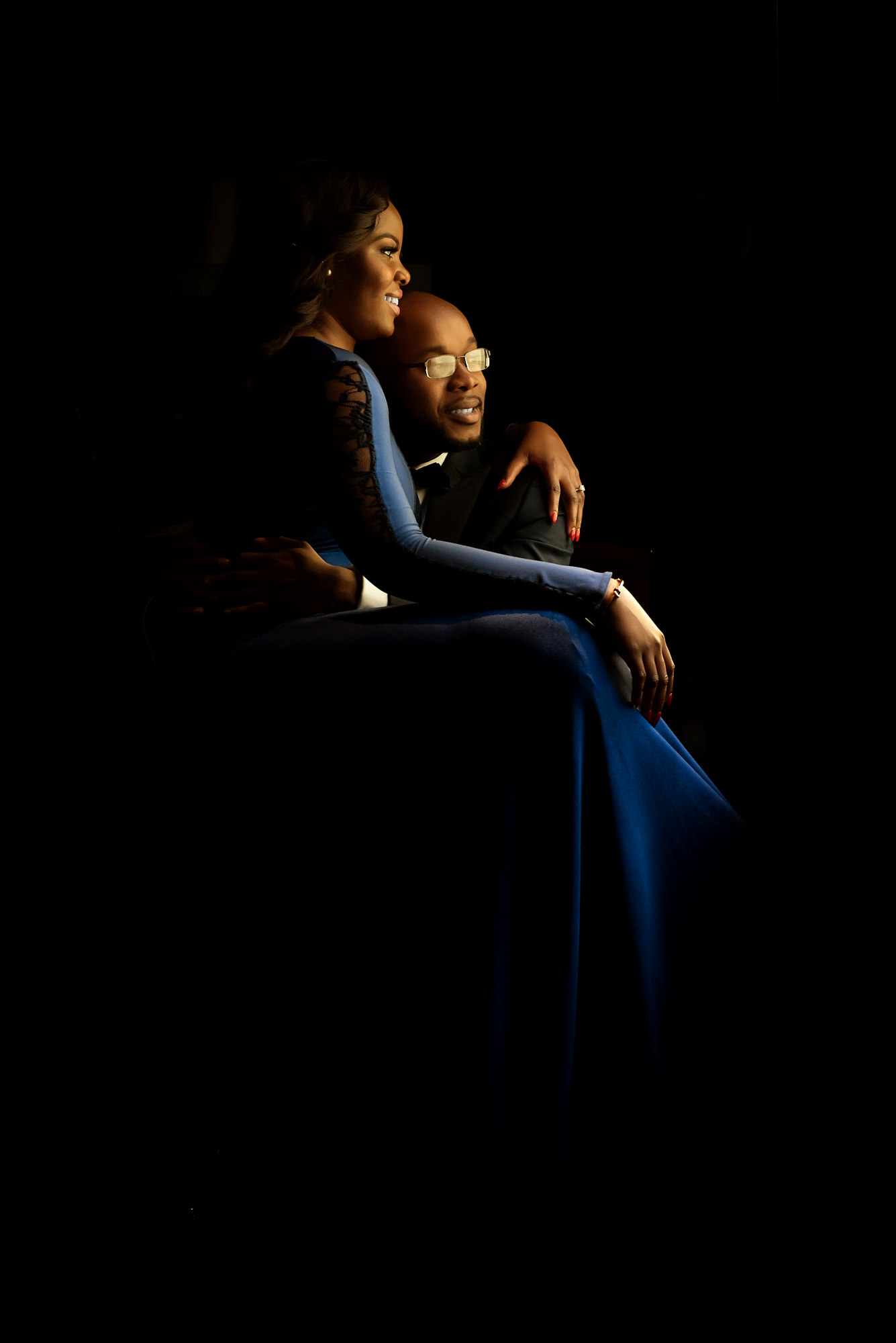 Classic portrait of black couple - photo by Jide Alakija