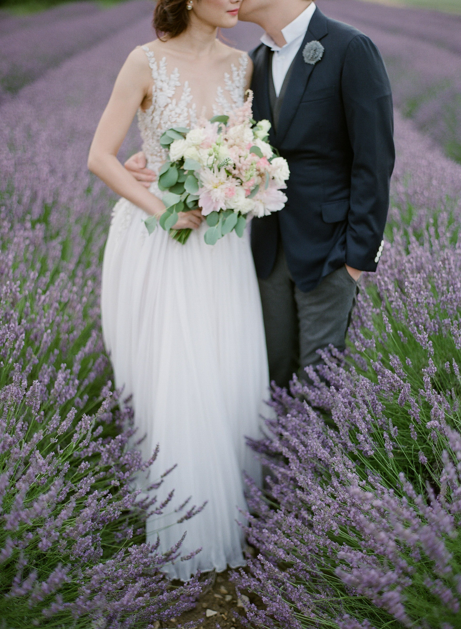 Couple in French lavender field - Greg Finck Photography