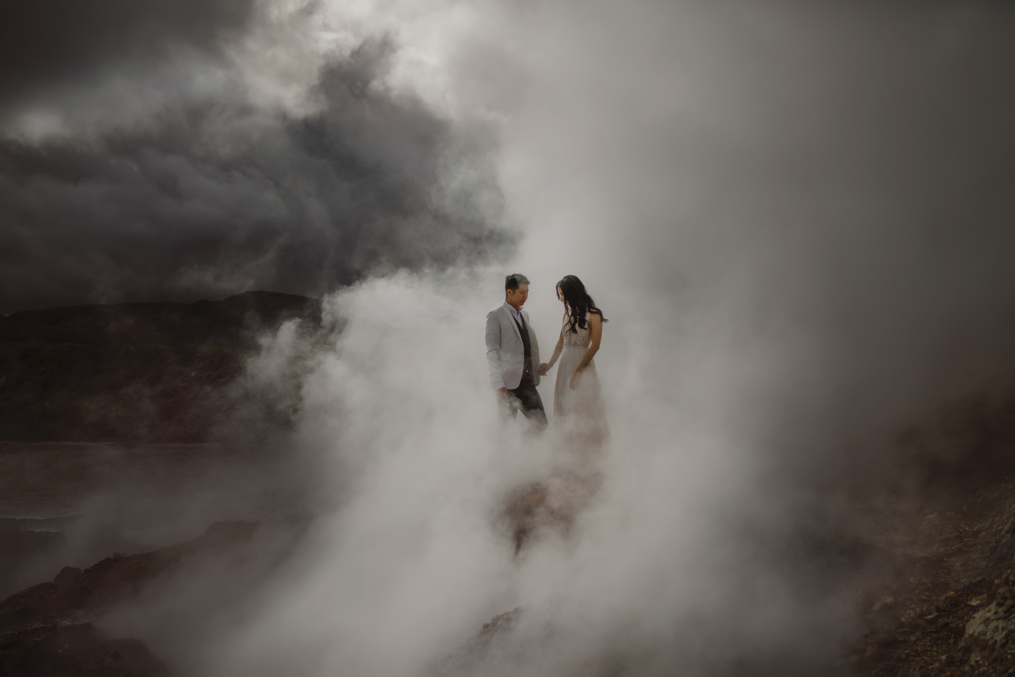 Couple in steam of natural hot springs - photo by McClintock Photography Agency