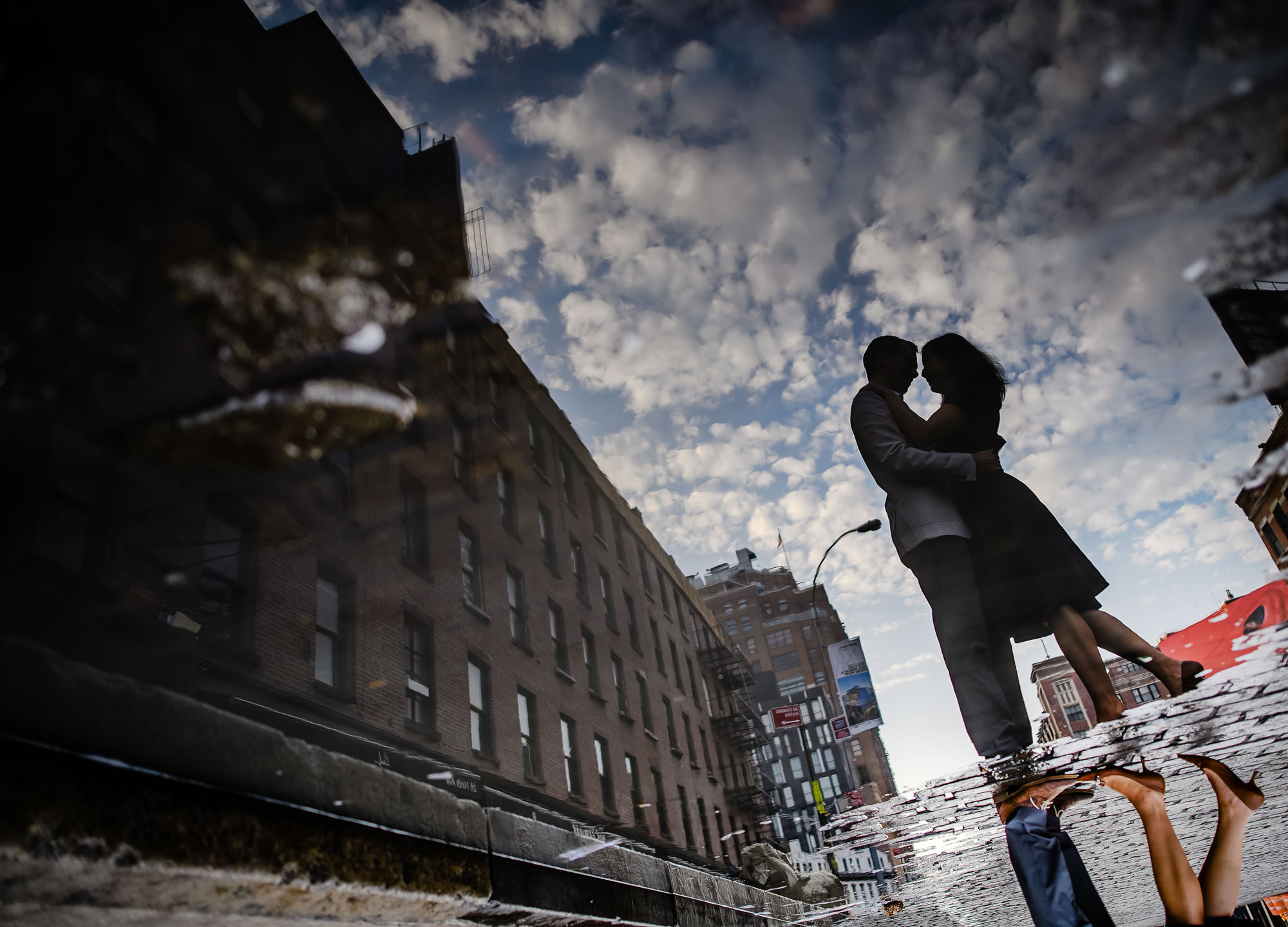 Creative reflection engagement photo - photo by The Brenizers - NYC