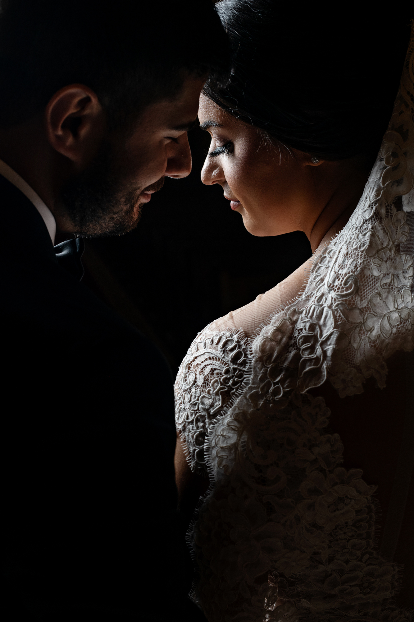 Face to face couple portrait - photo by Cooked Photography