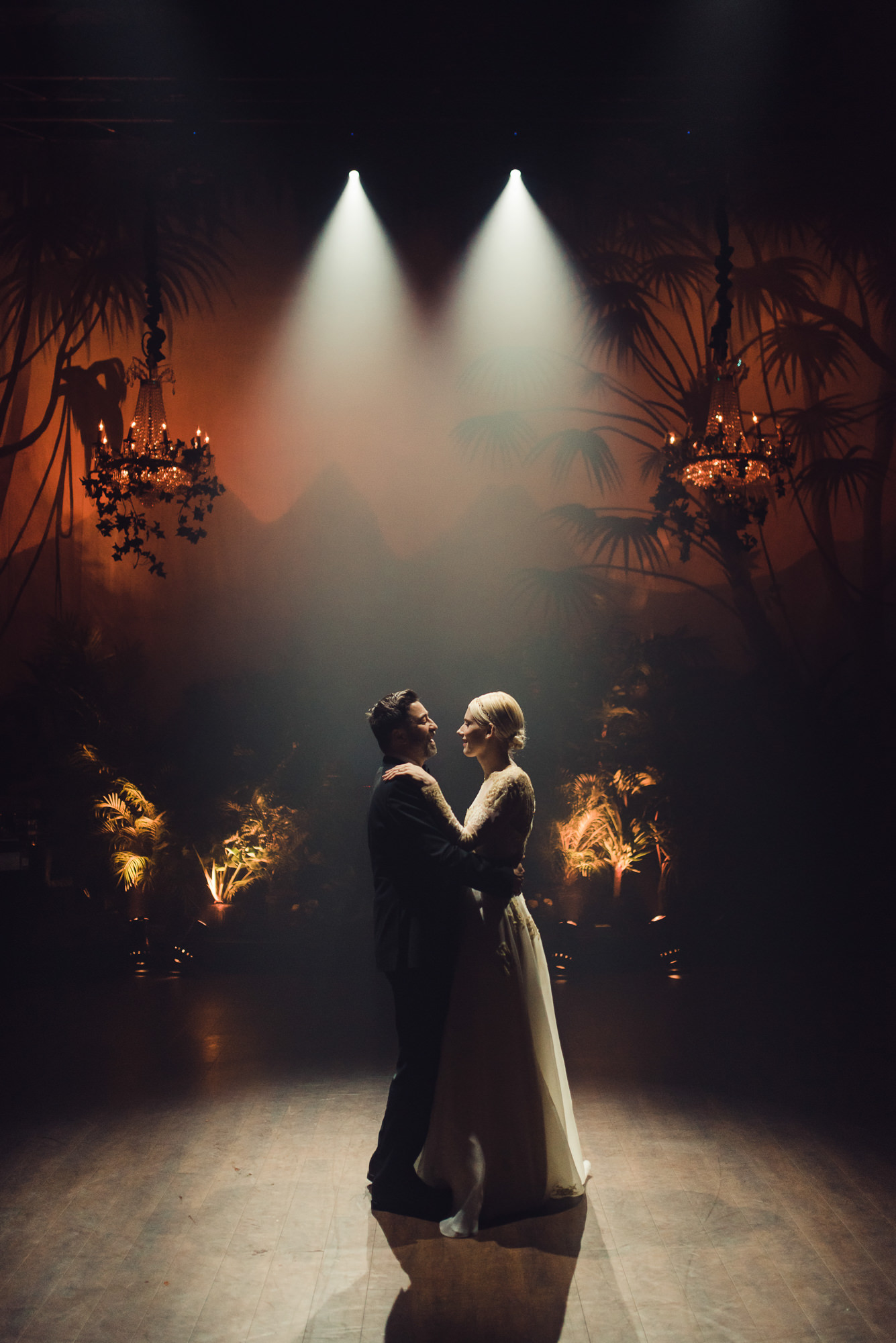 First dance in dual spotlight photo by Nordica Photography