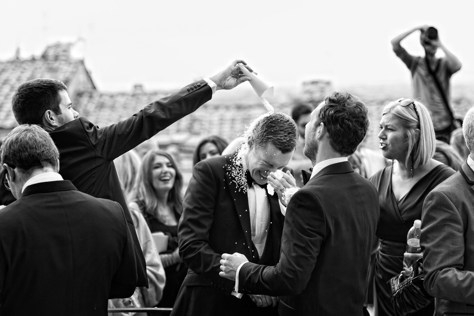 Fun moment with groom photo by David Bastianoni